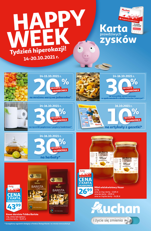 Gazetka Auchan: Gazetka Auchan - Skarbonka #41 2021-10-14 page-1