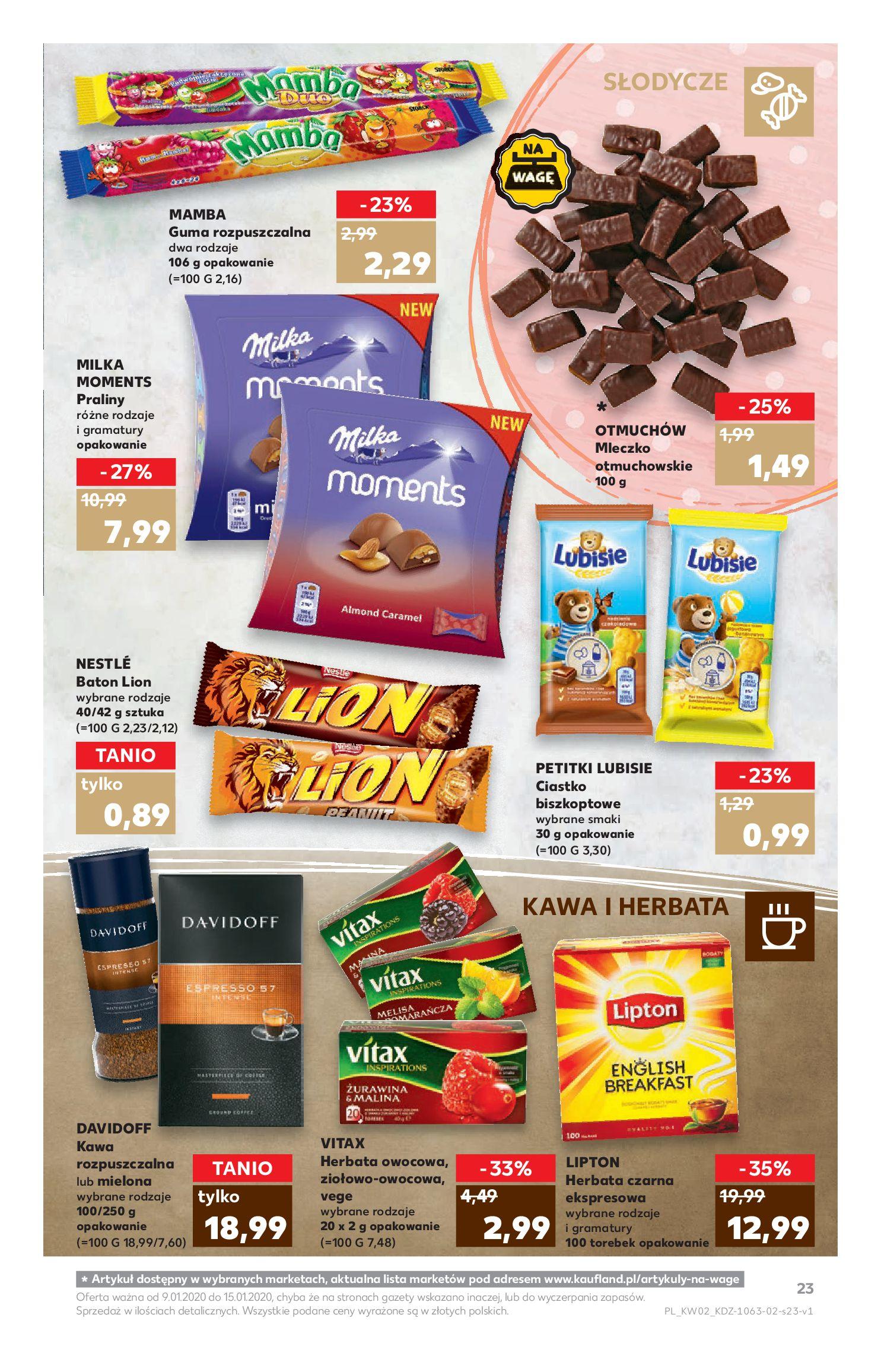 Gazetka Kaufland - TYDZIEŃ MEGA OSZCZĘDNOŚCI!-08.01.2020-15.01.2020-page-23