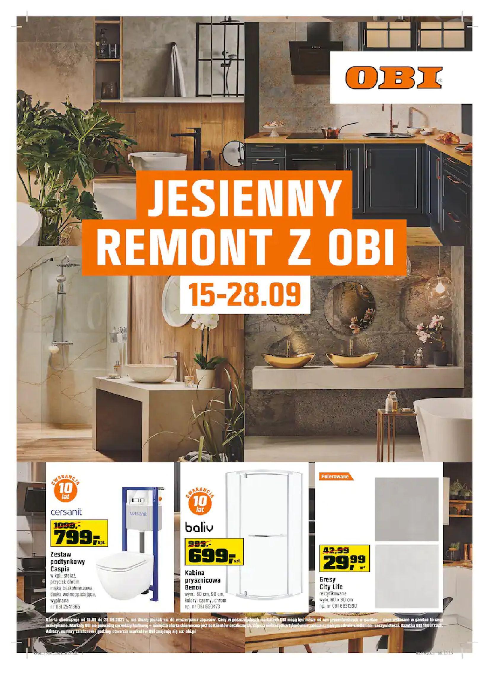 Gazetka OBI: Gazetka OBI - Jesienny remont 2021-09-15 page-1