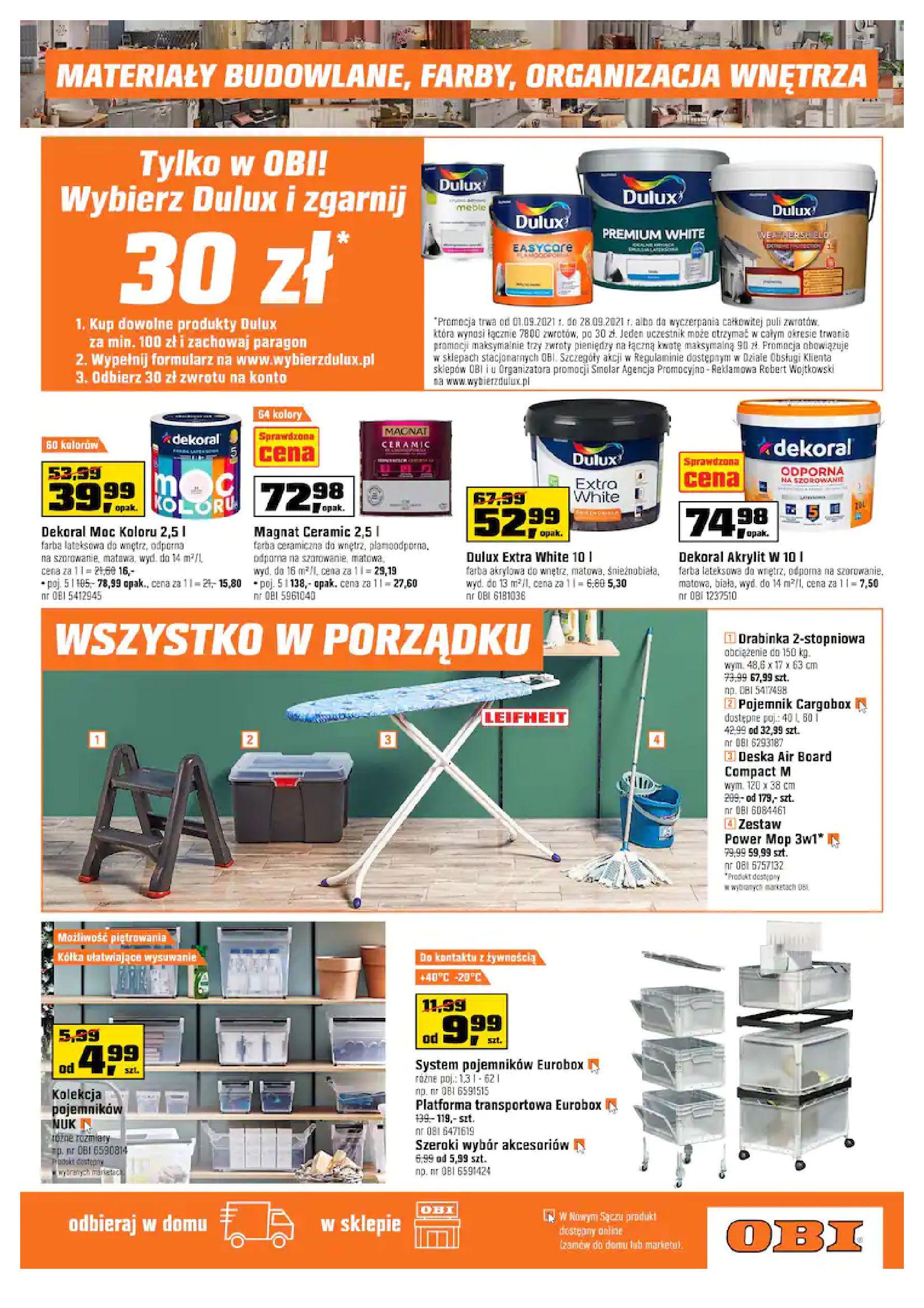 Gazetka OBI: Gazetka OBI - Jesienny remont 2021-09-15 page-11