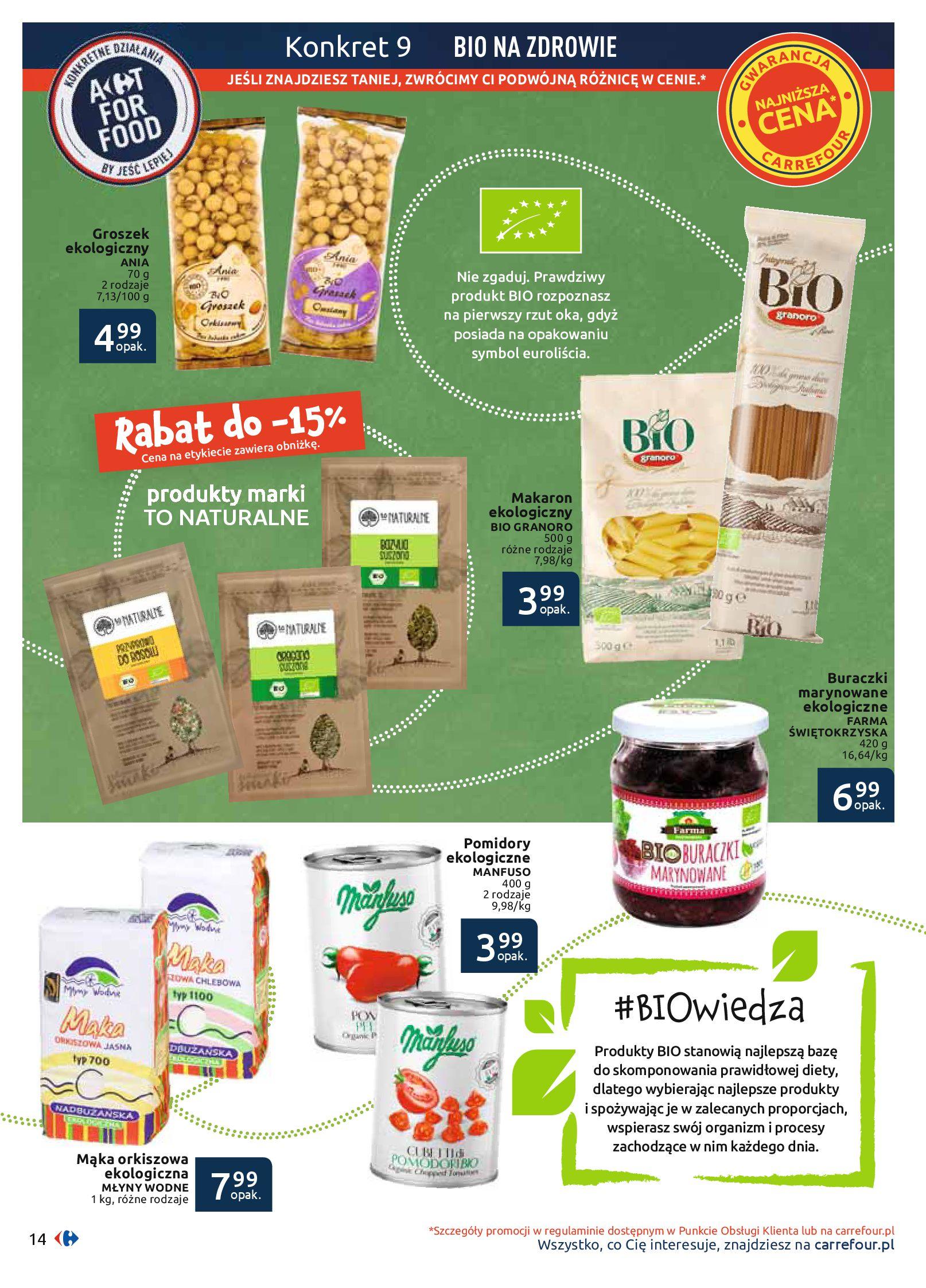 Gazetka Carrefour - BIO na zdrowie-03.06.2019-22.06.2019-page-14