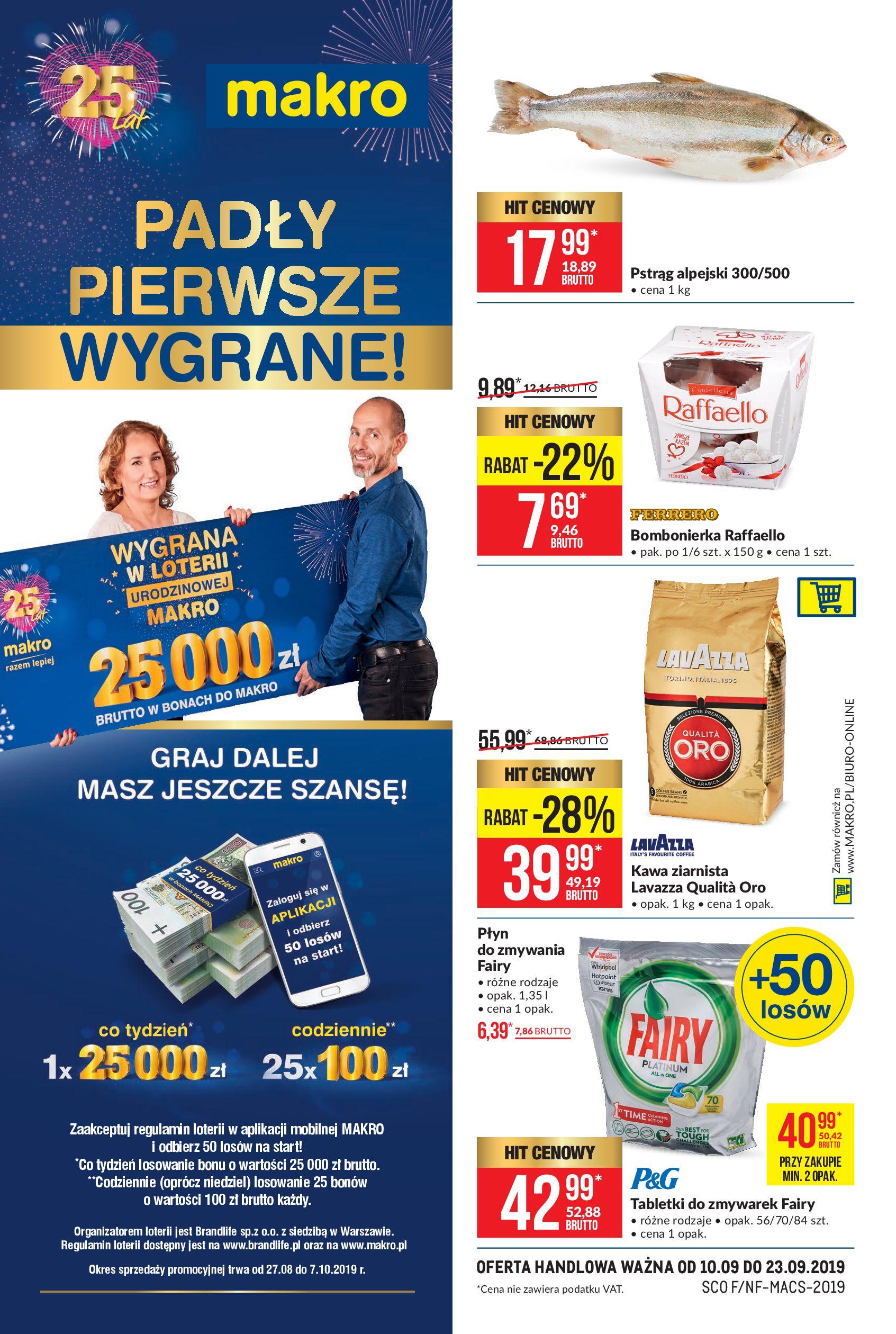 Gazetka Makro - Artykuły spożywcze-09.09.2019-22.09.2019-page-1
