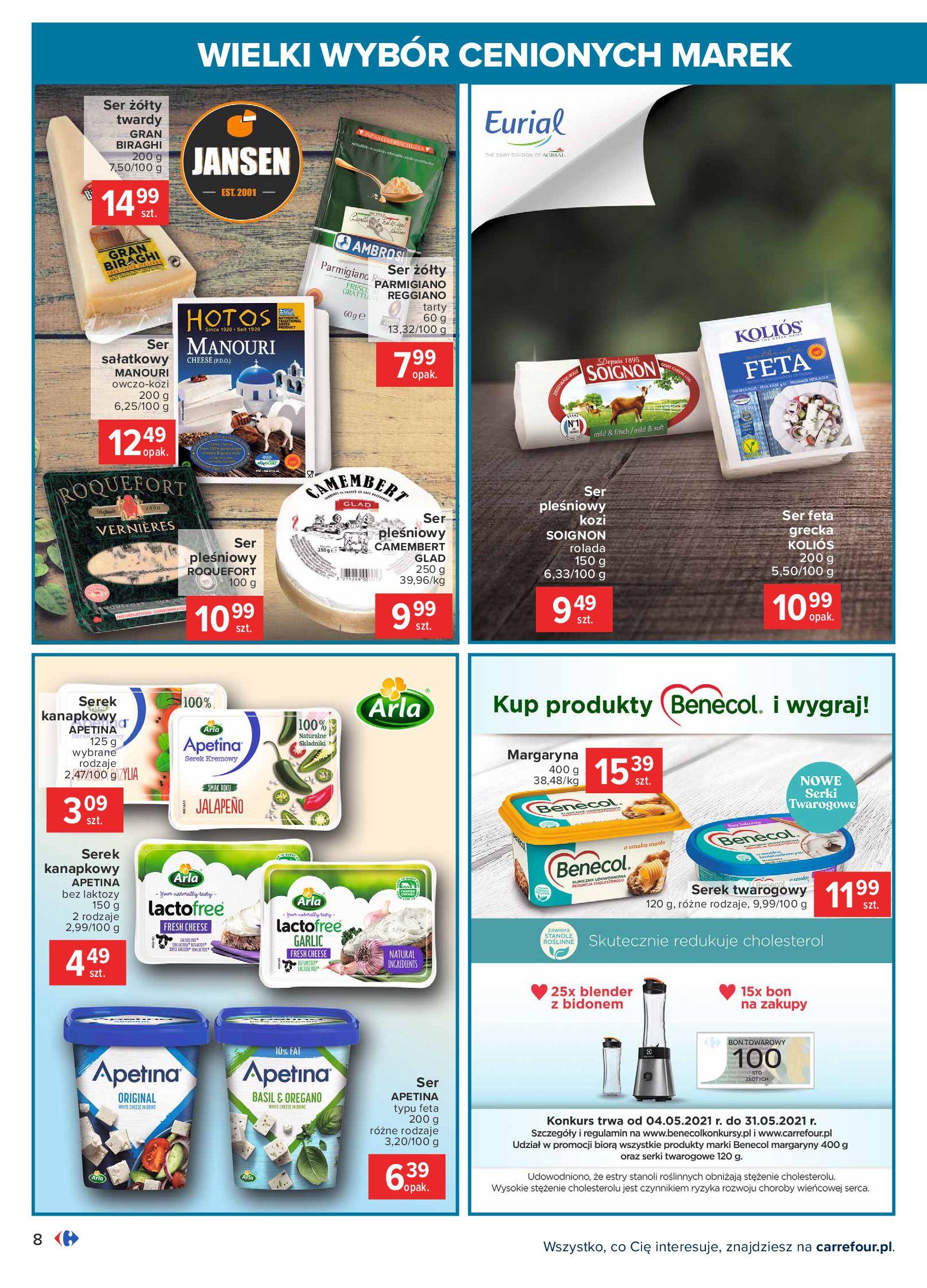 Gazetka Carrefour: Wielki wybór cenionych marek 2021-05-04 page-8