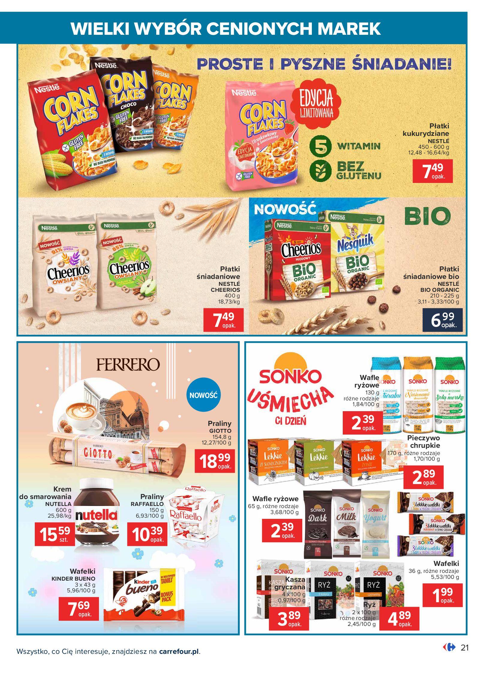 Gazetka Carrefour: Wielki wybór cenionych marek 2021-05-04 page-21