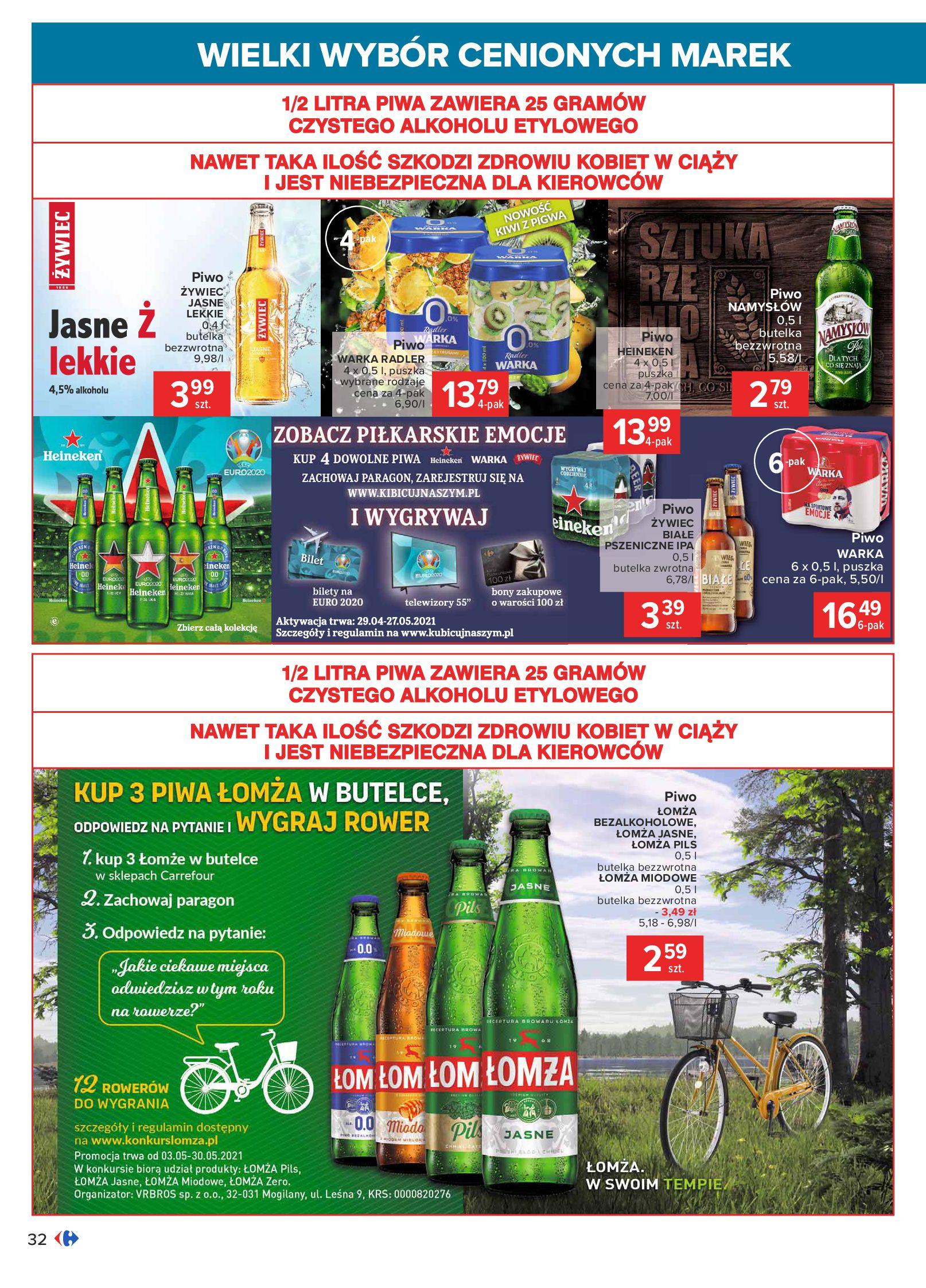 Gazetka Carrefour: Wielki wybór cenionych marek 2021-05-04 page-32
