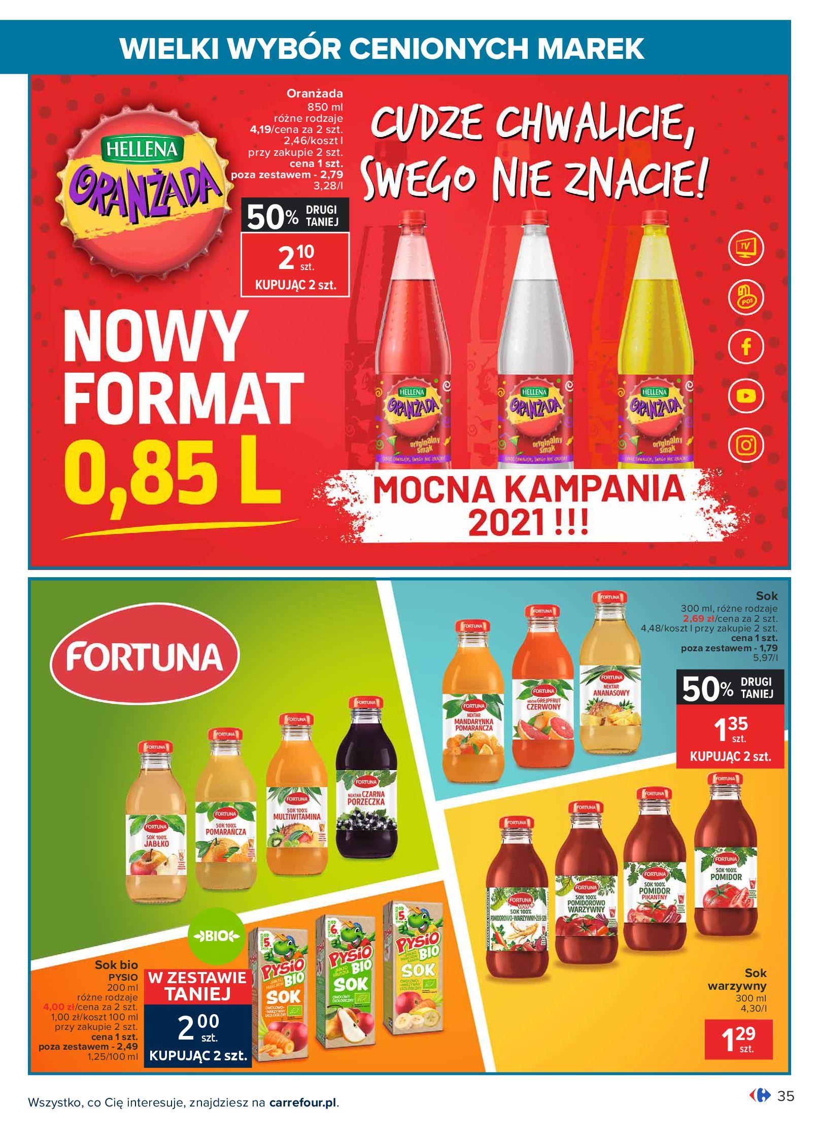 Gazetka Carrefour: Wielki wybór cenionych marek 2021-05-04 page-35