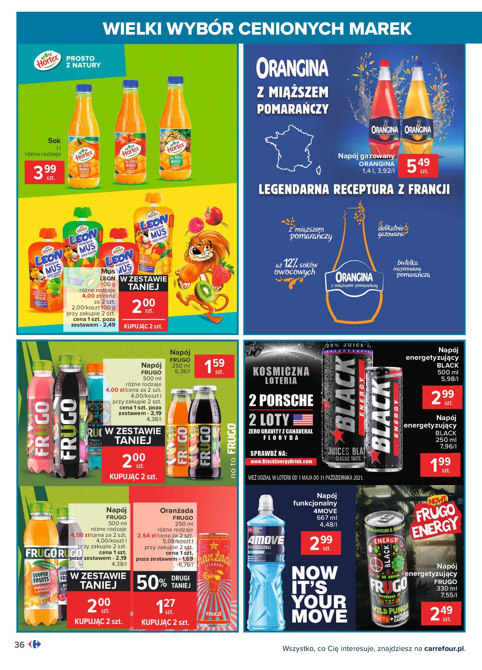 Gazetka Carrefour: Wielki wybór cenionych marek 2021-05-04 page-36
