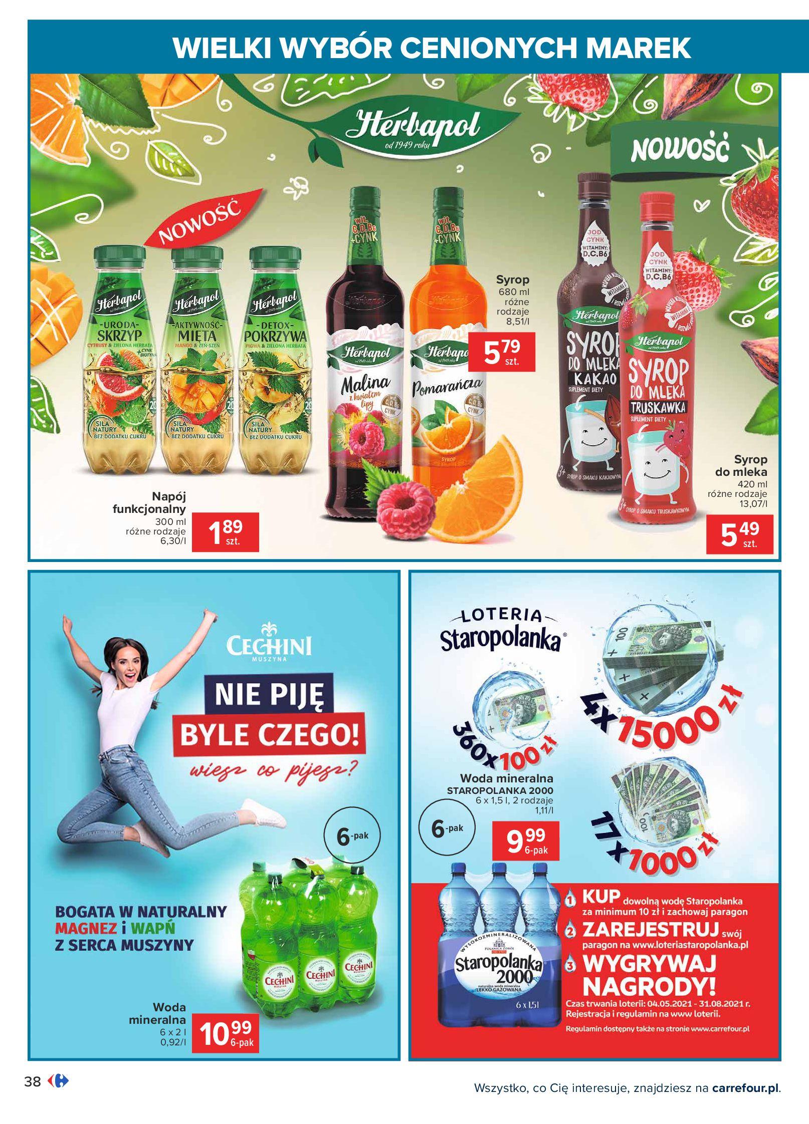 Gazetka Carrefour: Wielki wybór cenionych marek 2021-05-04 page-38