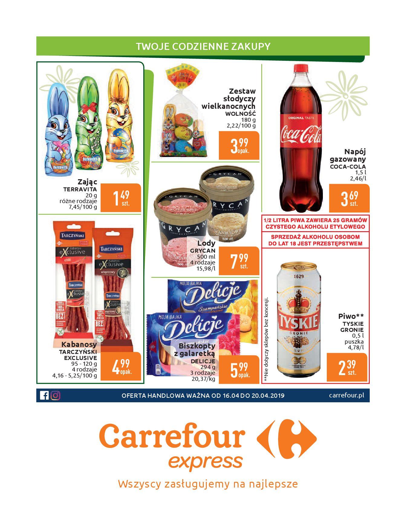 Gazetka Carrefour Express - Gdy zakupy rosną, to ceny maleją ekspresowo-15.04.2019-20.04.2019-page-