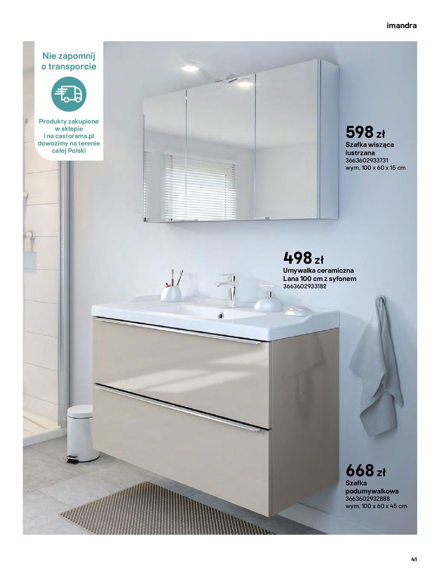 Gazetka Castorama: Gazetka Castorama - katalog łazienki 2021 2021-06-16 page-41