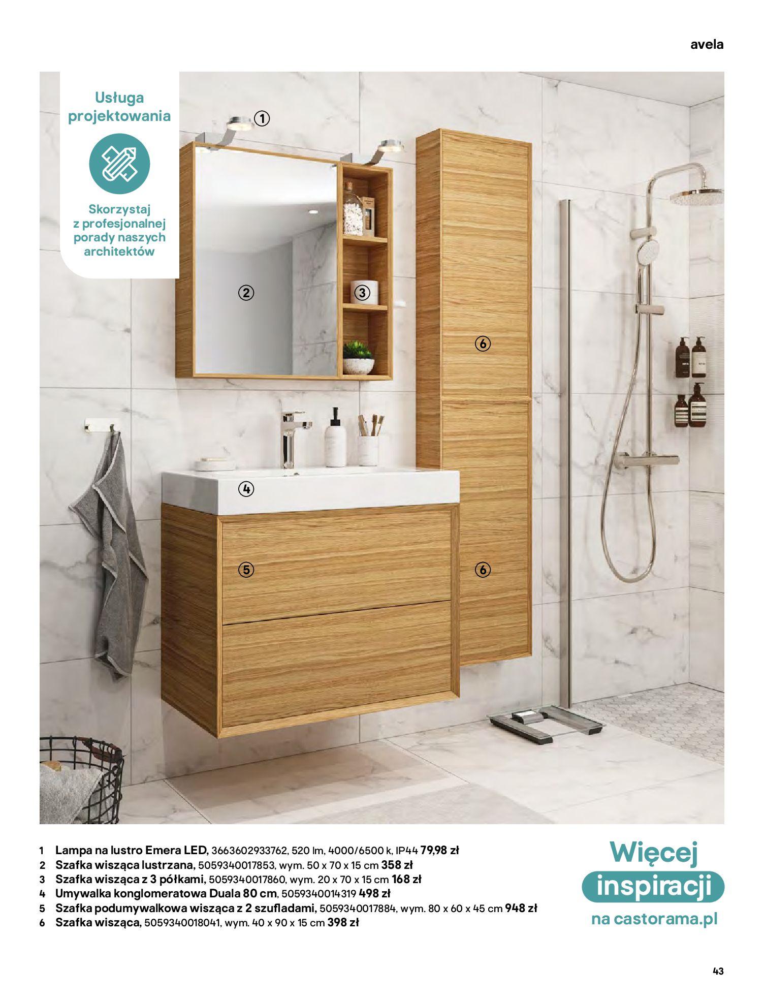 Gazetka Castorama: Gazetka Castorama - katalog łazienki 2021 2021-06-16 page-43