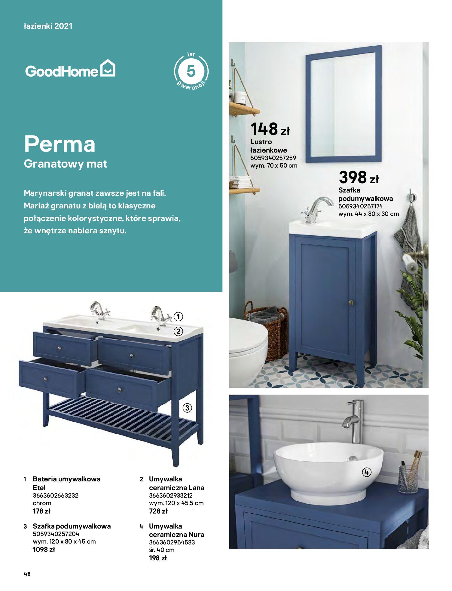 Gazetka Castorama: Gazetka Castorama - katalog łazienki 2021 2021-06-16 page-48