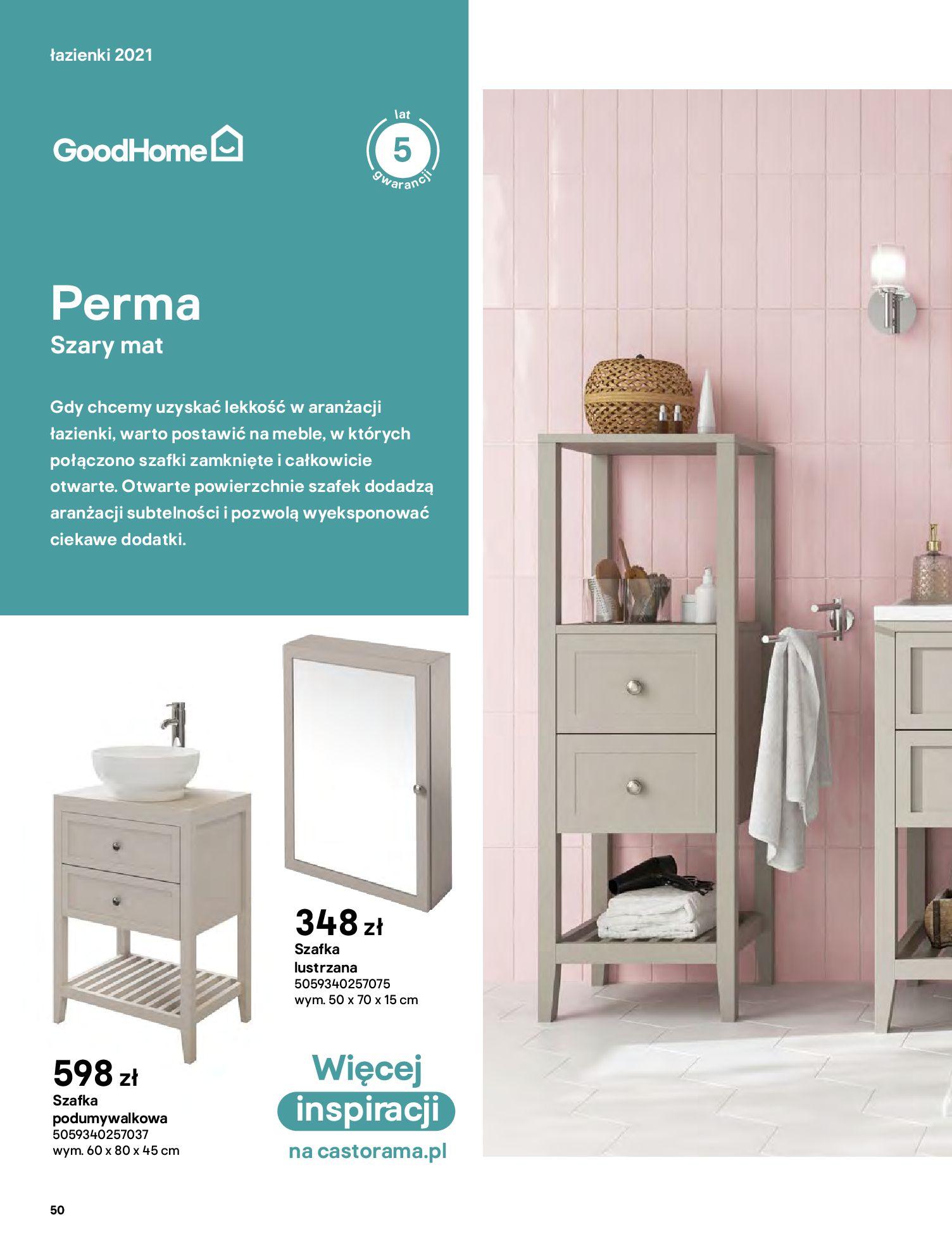 Gazetka Castorama: Gazetka Castorama - katalog łazienki 2021 2021-06-16 page-50