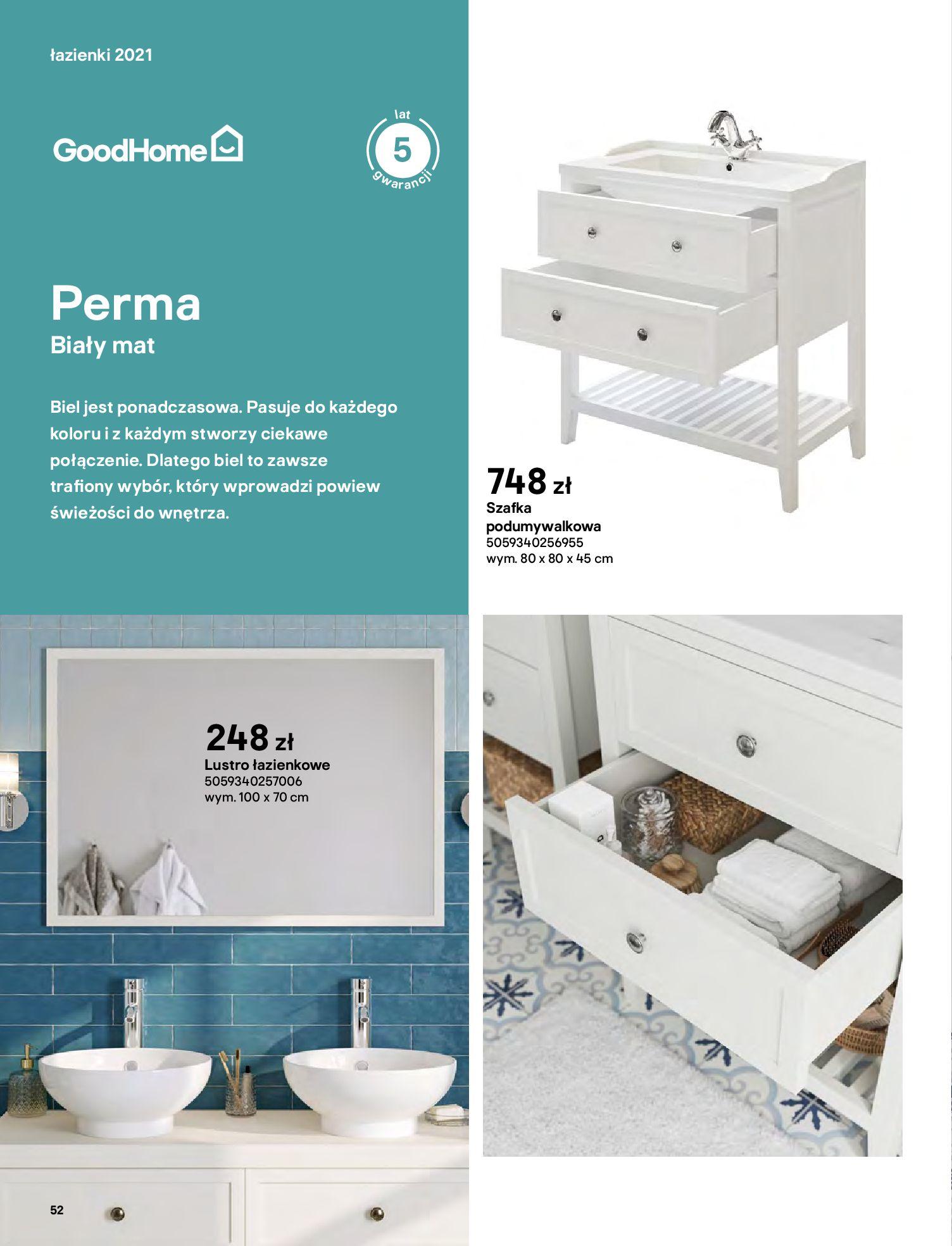 Gazetka Castorama: Gazetka Castorama - katalog łazienki 2021 2021-06-16 page-52