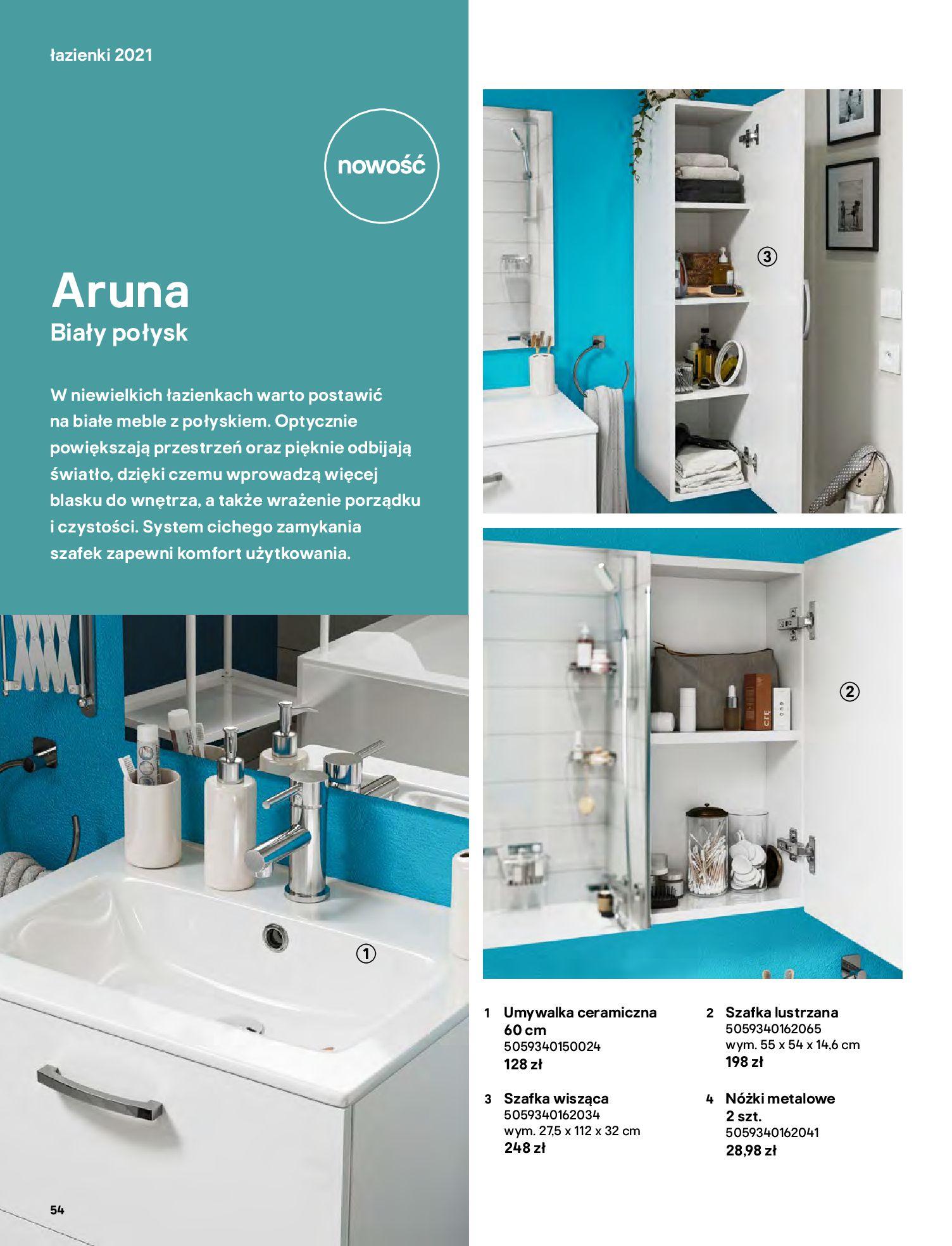 Gazetka Castorama: Gazetka Castorama - katalog łazienki 2021 2021-06-16 page-54