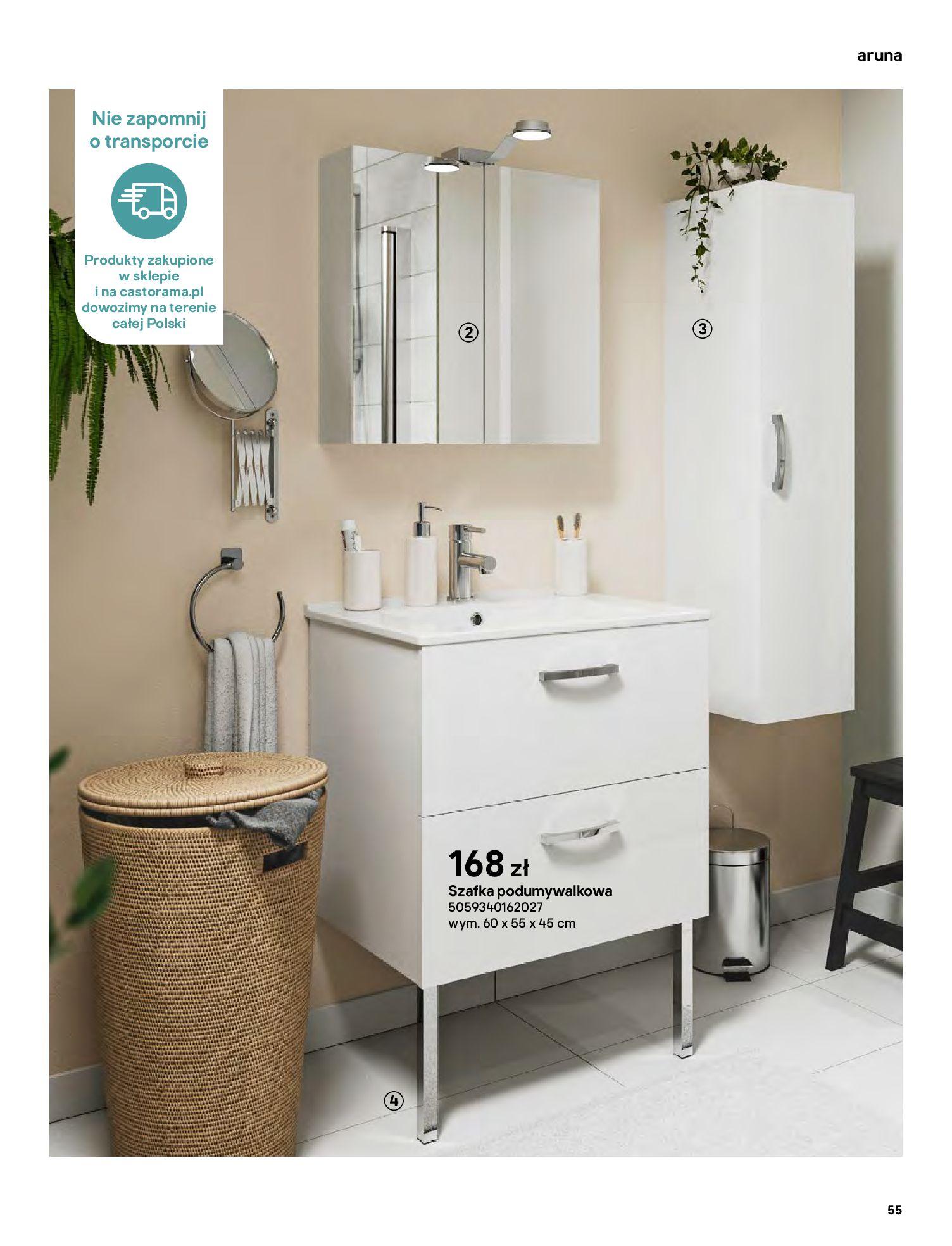 Gazetka Castorama: Gazetka Castorama - katalog łazienki 2021 2021-06-16 page-55