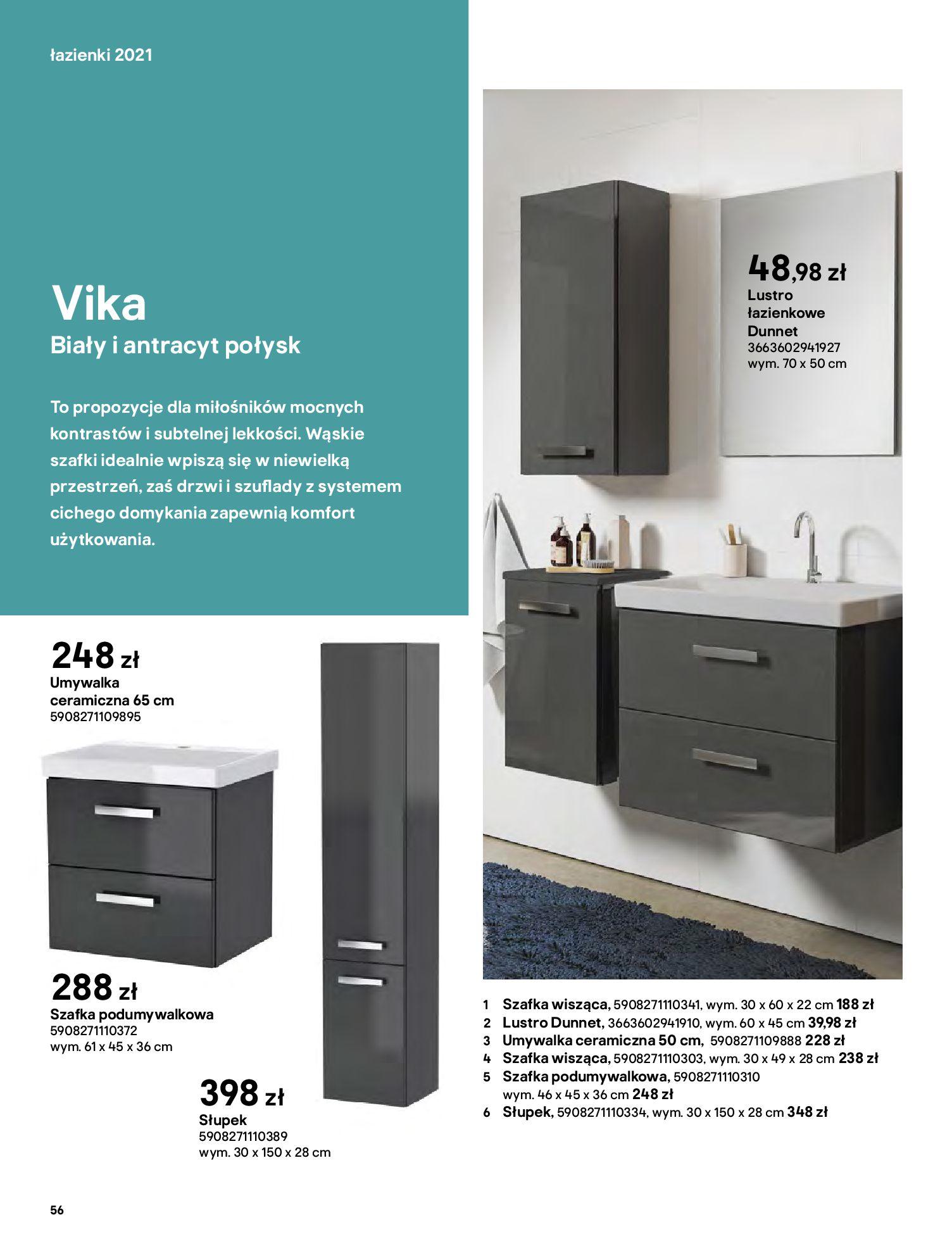 Gazetka Castorama: Gazetka Castorama - katalog łazienki 2021 2021-06-16 page-56