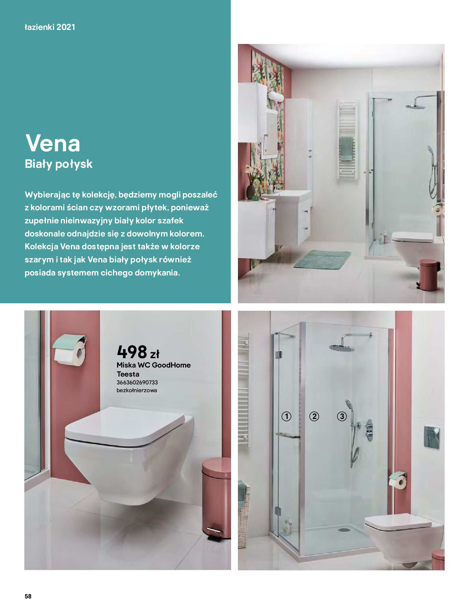 Gazetka Castorama: Gazetka Castorama - katalog łazienki 2021 2021-06-16 page-58