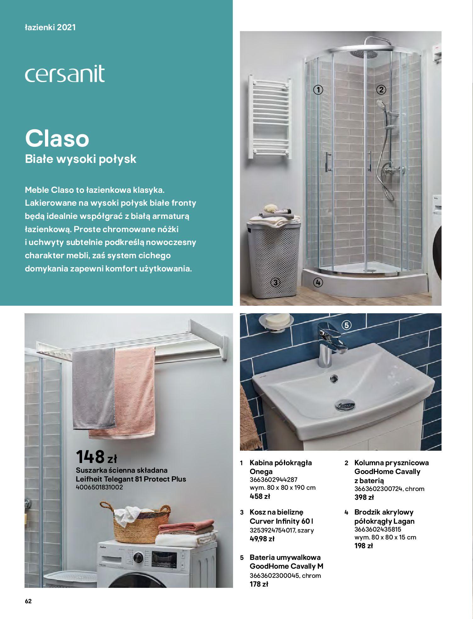 Gazetka Castorama: Gazetka Castorama - katalog łazienki 2021 2021-06-16 page-62