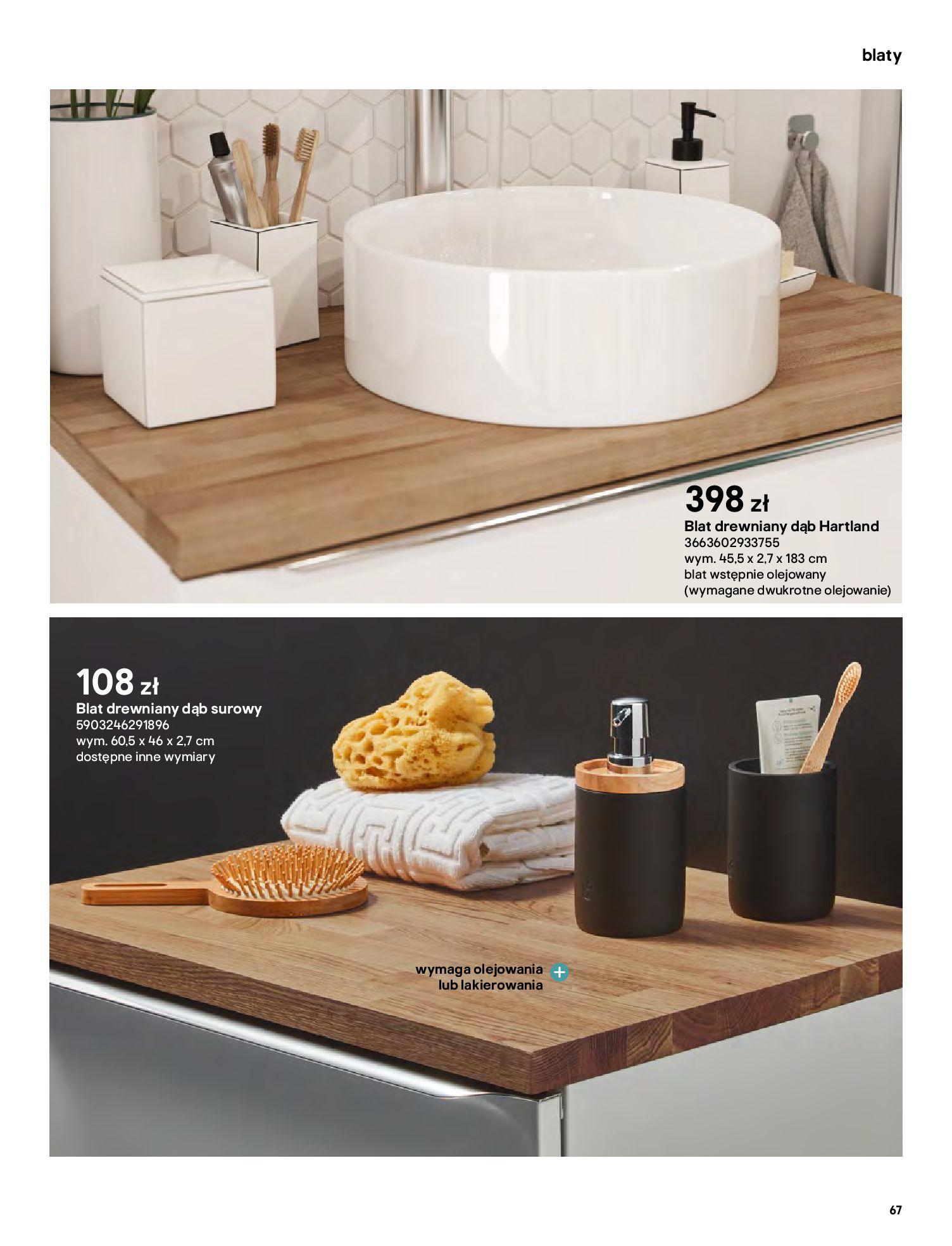 Gazetka Castorama: Gazetka Castorama - katalog łazienki 2021 2021-06-16 page-67
