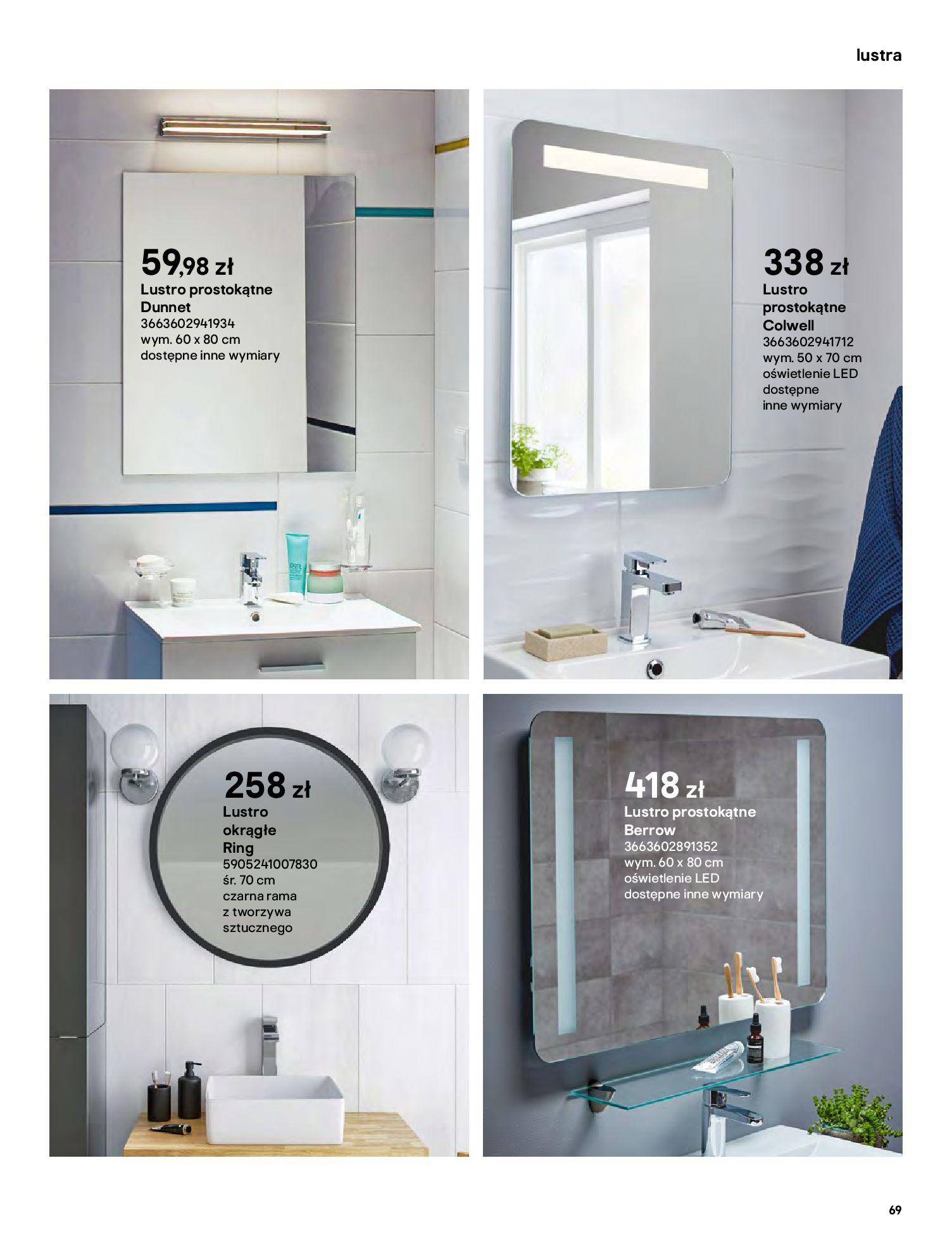 Gazetka Castorama: Gazetka Castorama - katalog łazienki 2021 2021-06-16 page-69