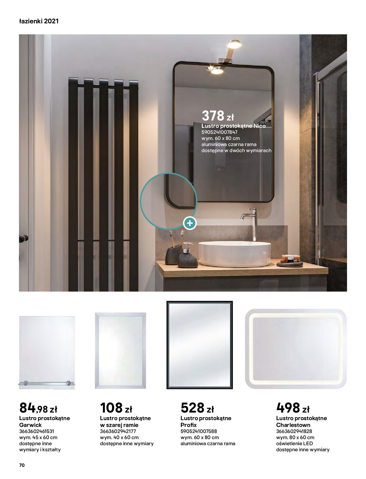 Gazetka Castorama: Gazetka Castorama - katalog łazienki 2021 2021-06-16 page-70
