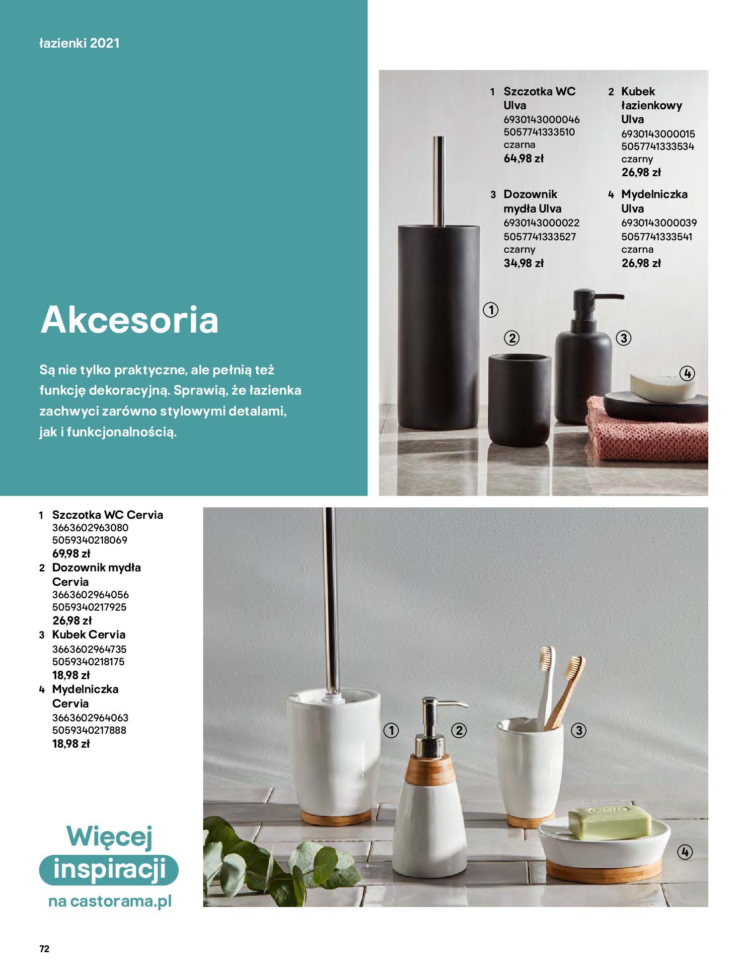 Gazetka Castorama: Gazetka Castorama - katalog łazienki 2021 2021-06-16 page-72