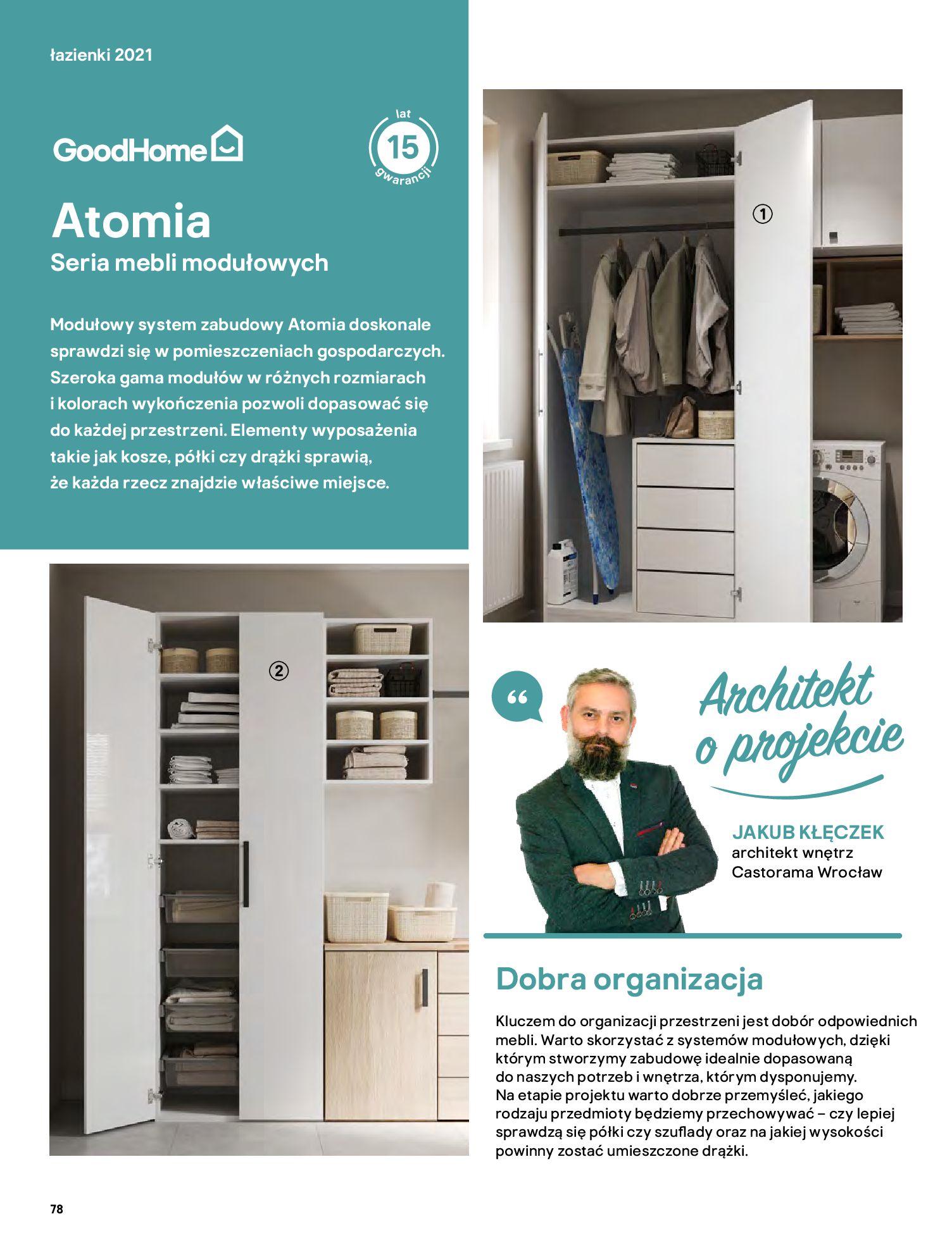 Gazetka Castorama: Gazetka Castorama - katalog łazienki 2021 2021-06-16 page-78