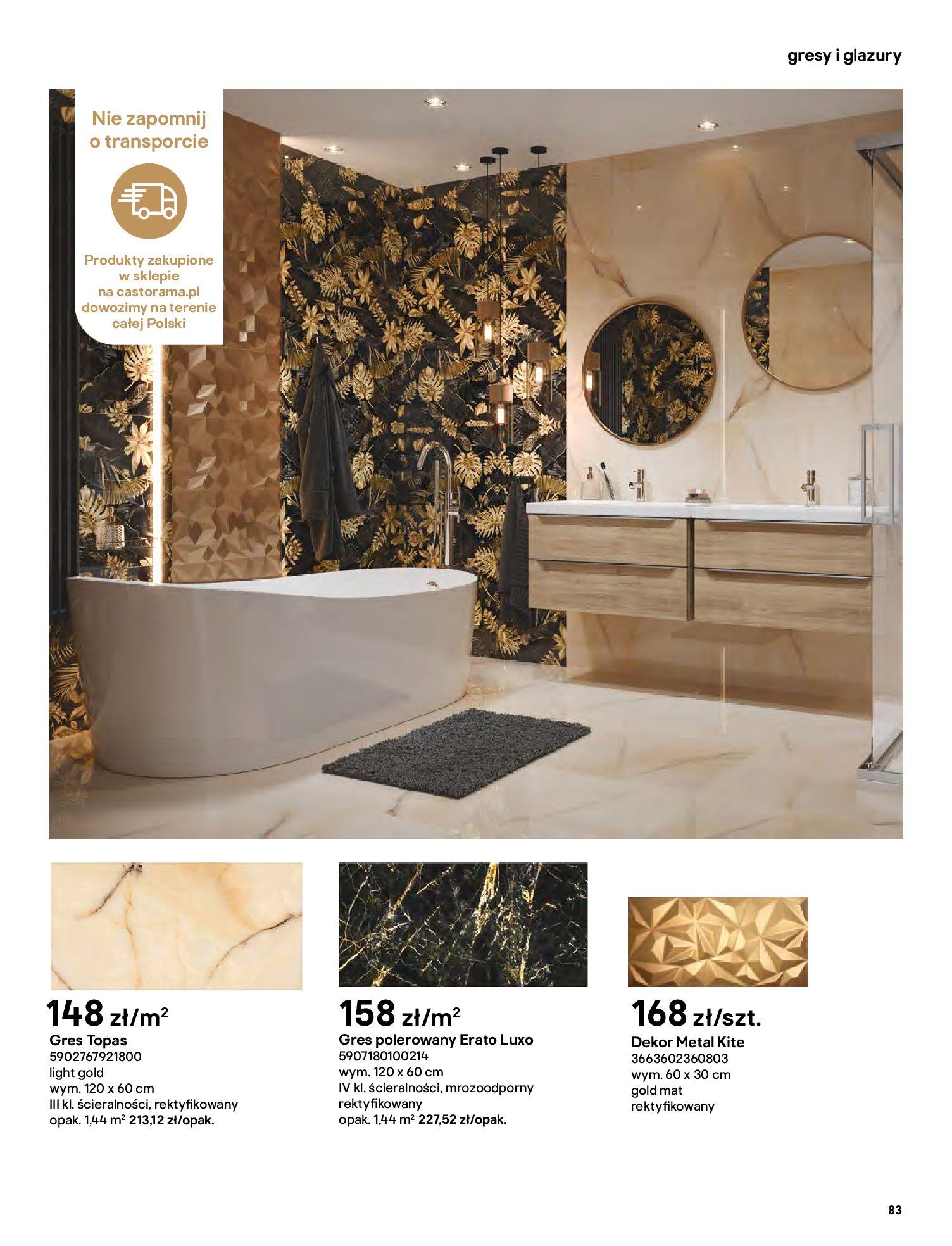 Gazetka Castorama: Gazetka Castorama - katalog łazienki 2021 2021-06-16 page-83