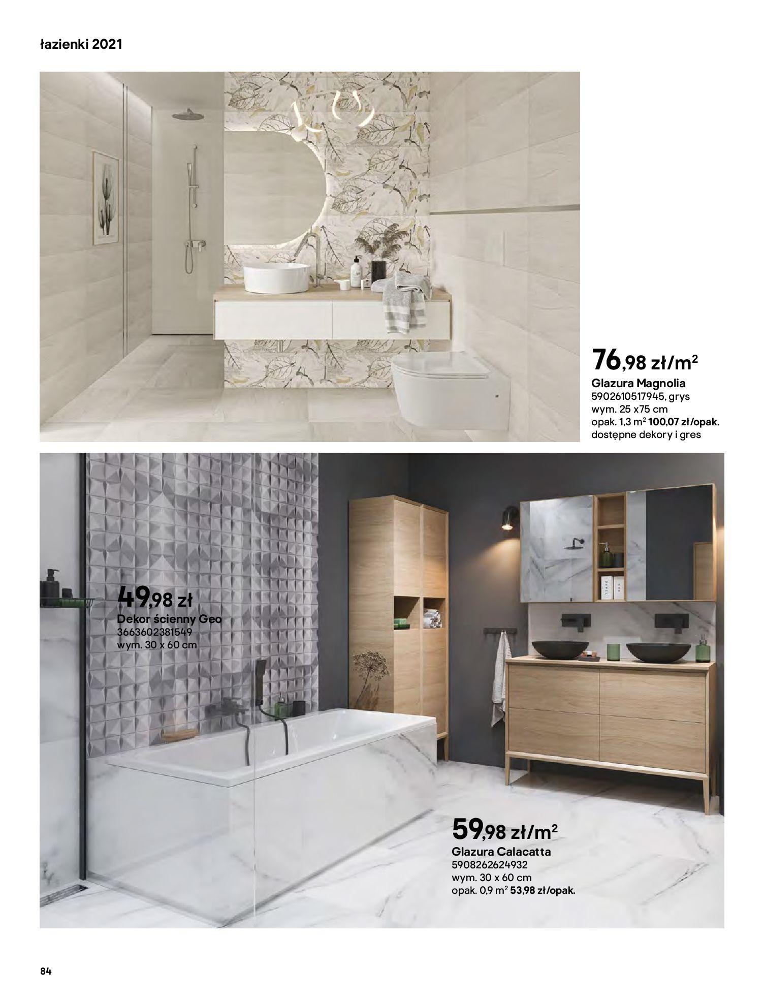 Gazetka Castorama: Gazetka Castorama - katalog łazienki 2021 2021-06-16 page-84