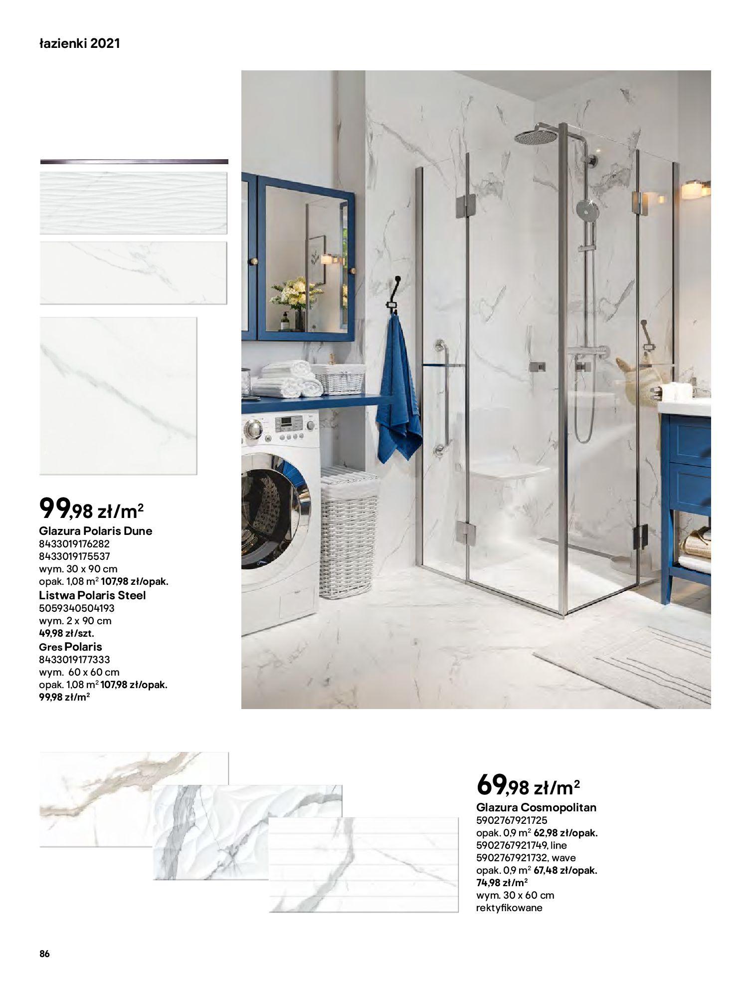 Gazetka Castorama: Gazetka Castorama - katalog łazienki 2021 2021-06-16 page-86
