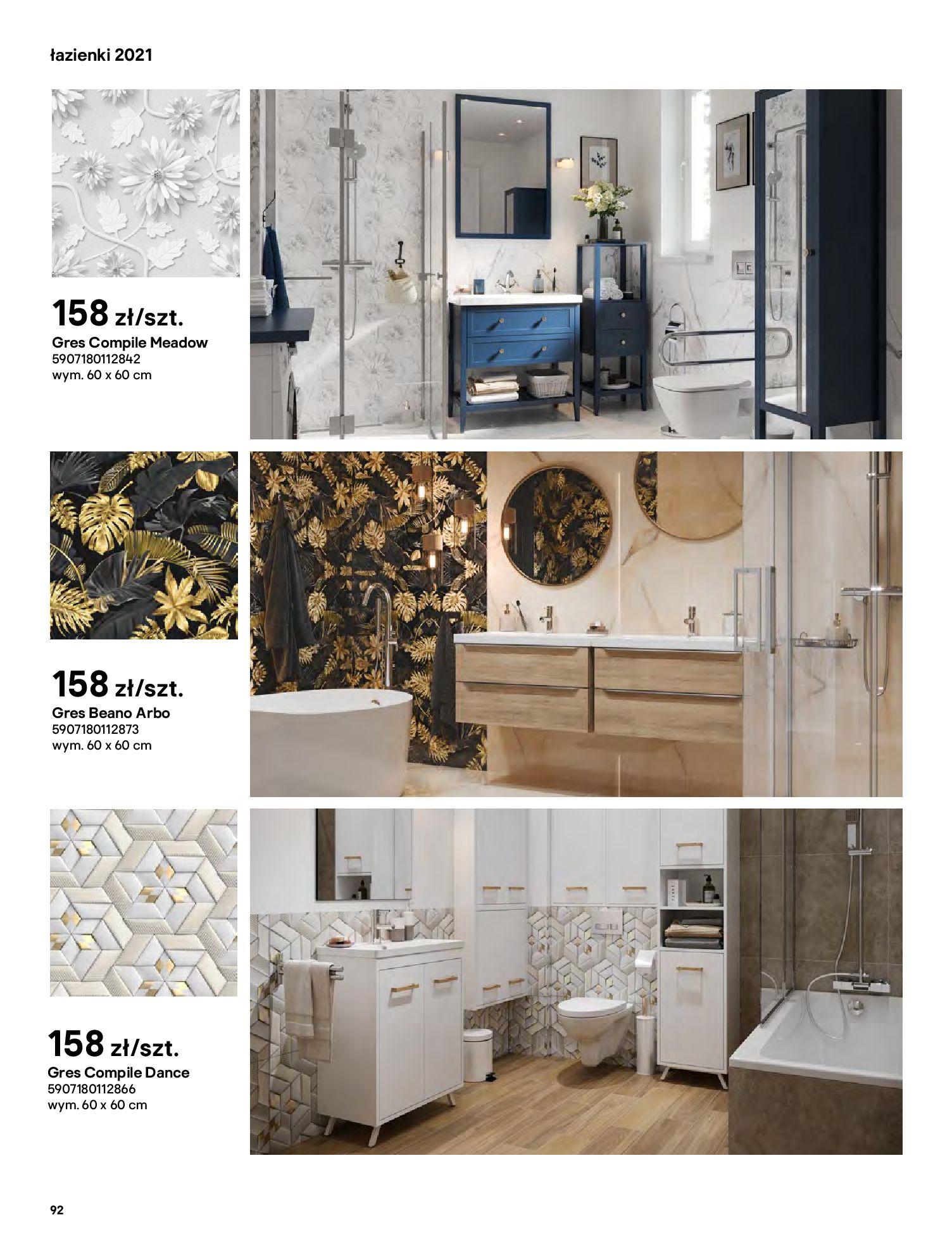Gazetka Castorama: Gazetka Castorama - katalog łazienki 2021 2021-06-16 page-92