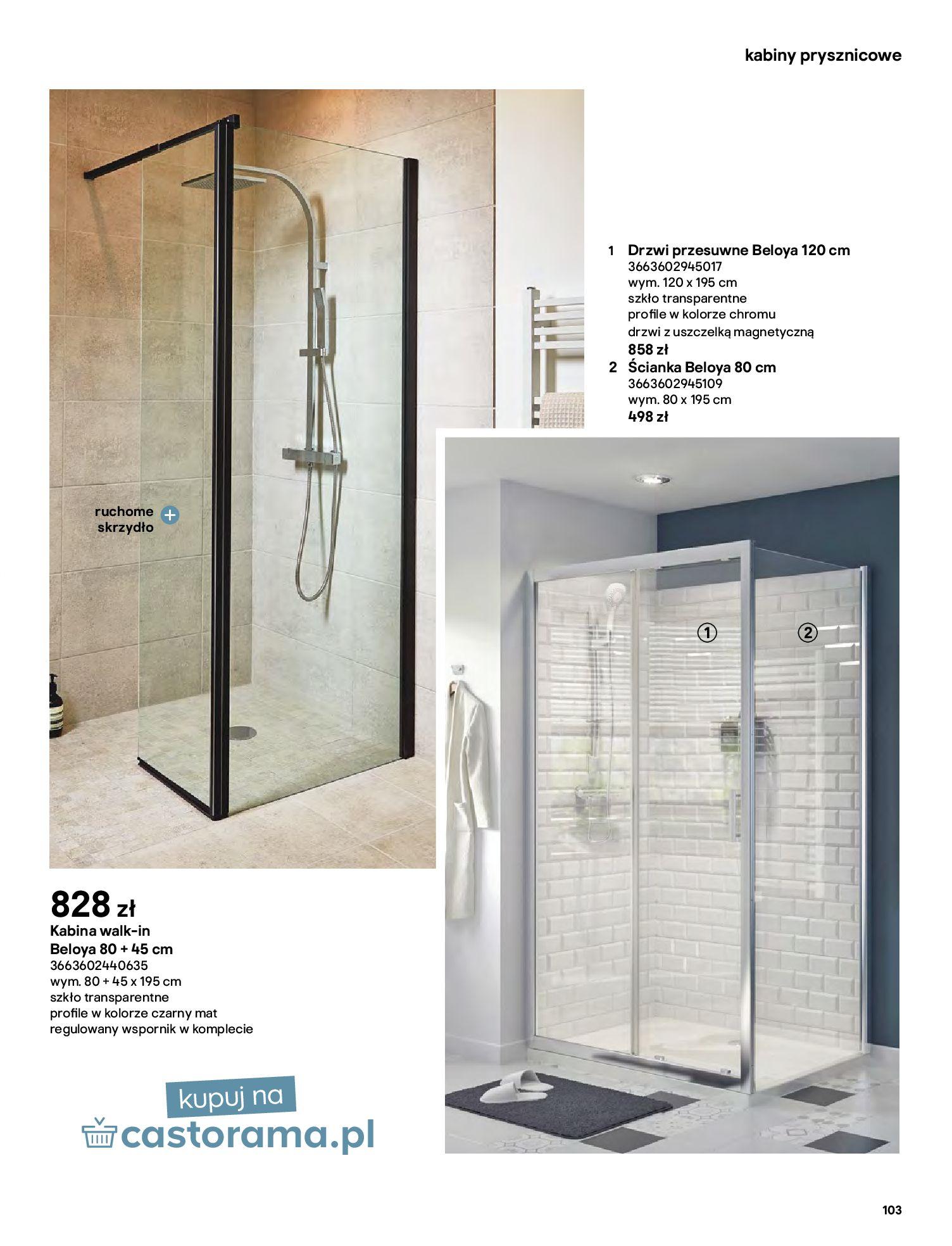 Gazetka Castorama: Gazetka Castorama - katalog łazienki 2021 2021-06-16 page-103