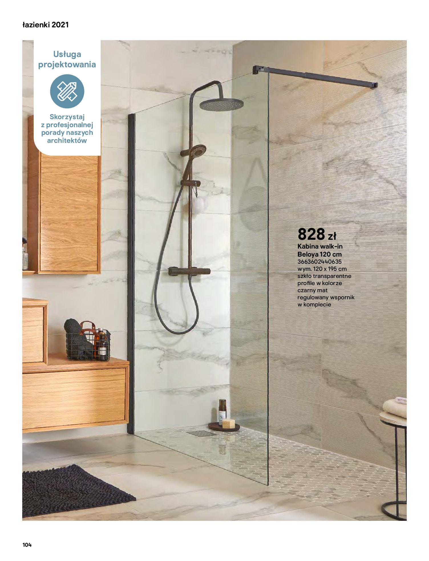 Gazetka Castorama: Gazetka Castorama - katalog łazienki 2021 2021-06-16 page-104