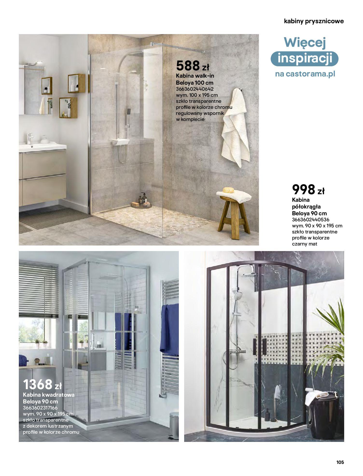 Gazetka Castorama: Gazetka Castorama - katalog łazienki 2021 2021-06-16 page-105