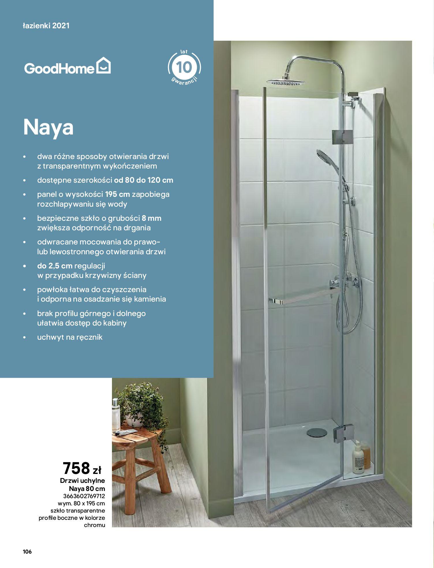 Gazetka Castorama: Gazetka Castorama - katalog łazienki 2021 2021-06-16 page-106