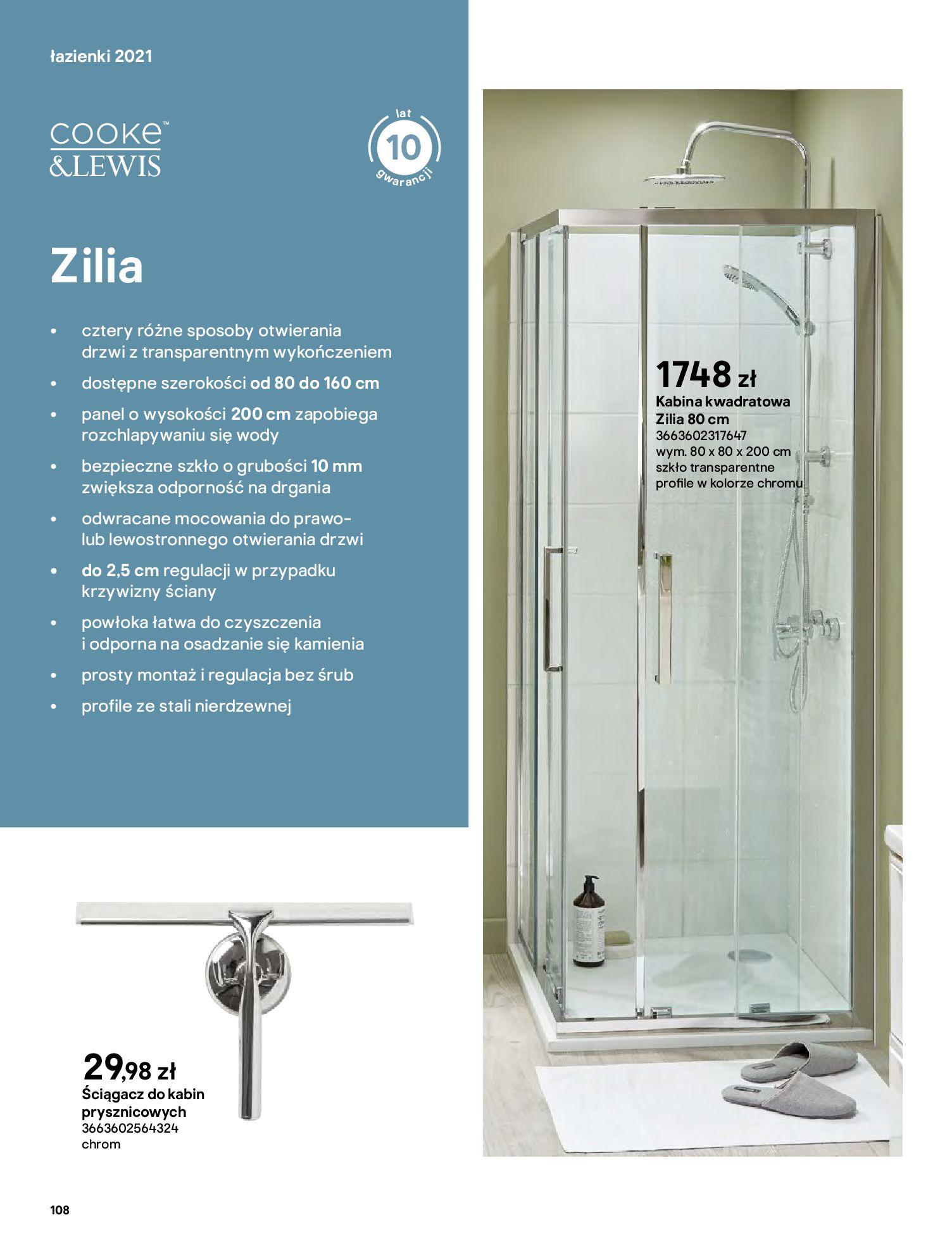 Gazetka Castorama: Gazetka Castorama - katalog łazienki 2021 2021-06-16 page-108