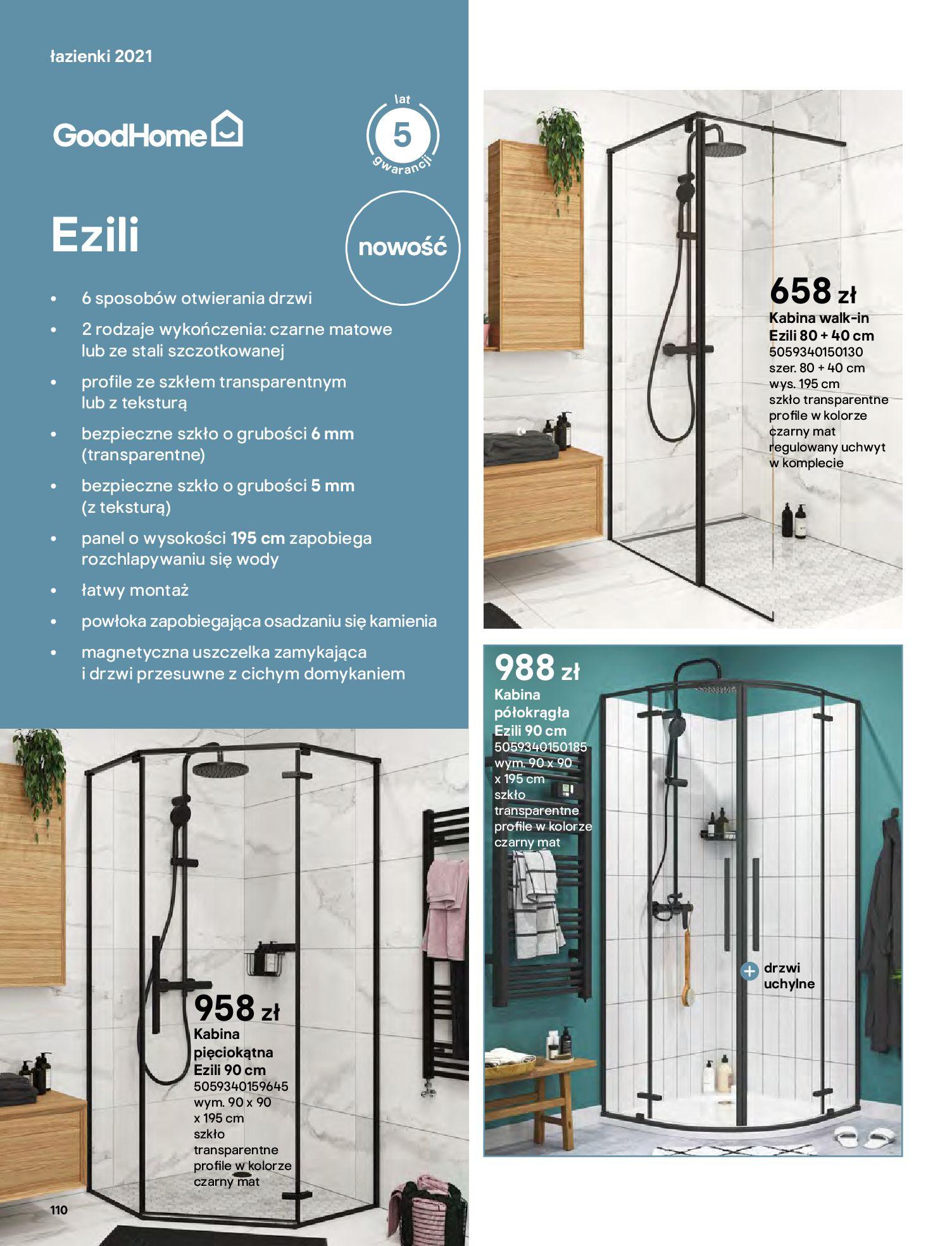 Gazetka Castorama: Gazetka Castorama - katalog łazienki 2021 2021-06-16 page-110