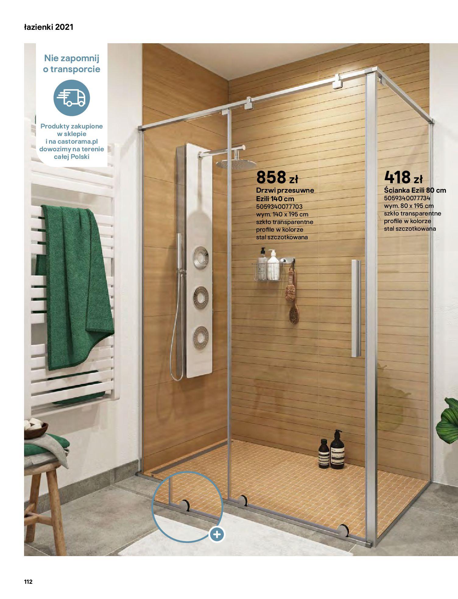Gazetka Castorama: Gazetka Castorama - katalog łazienki 2021 2021-06-16 page-112