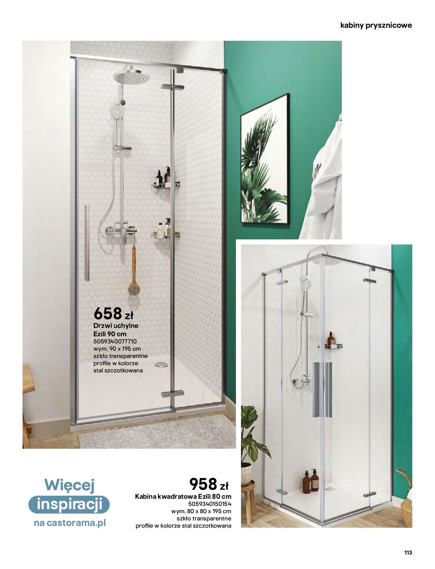 Gazetka Castorama: Gazetka Castorama - katalog łazienki 2021 2021-06-16 page-113