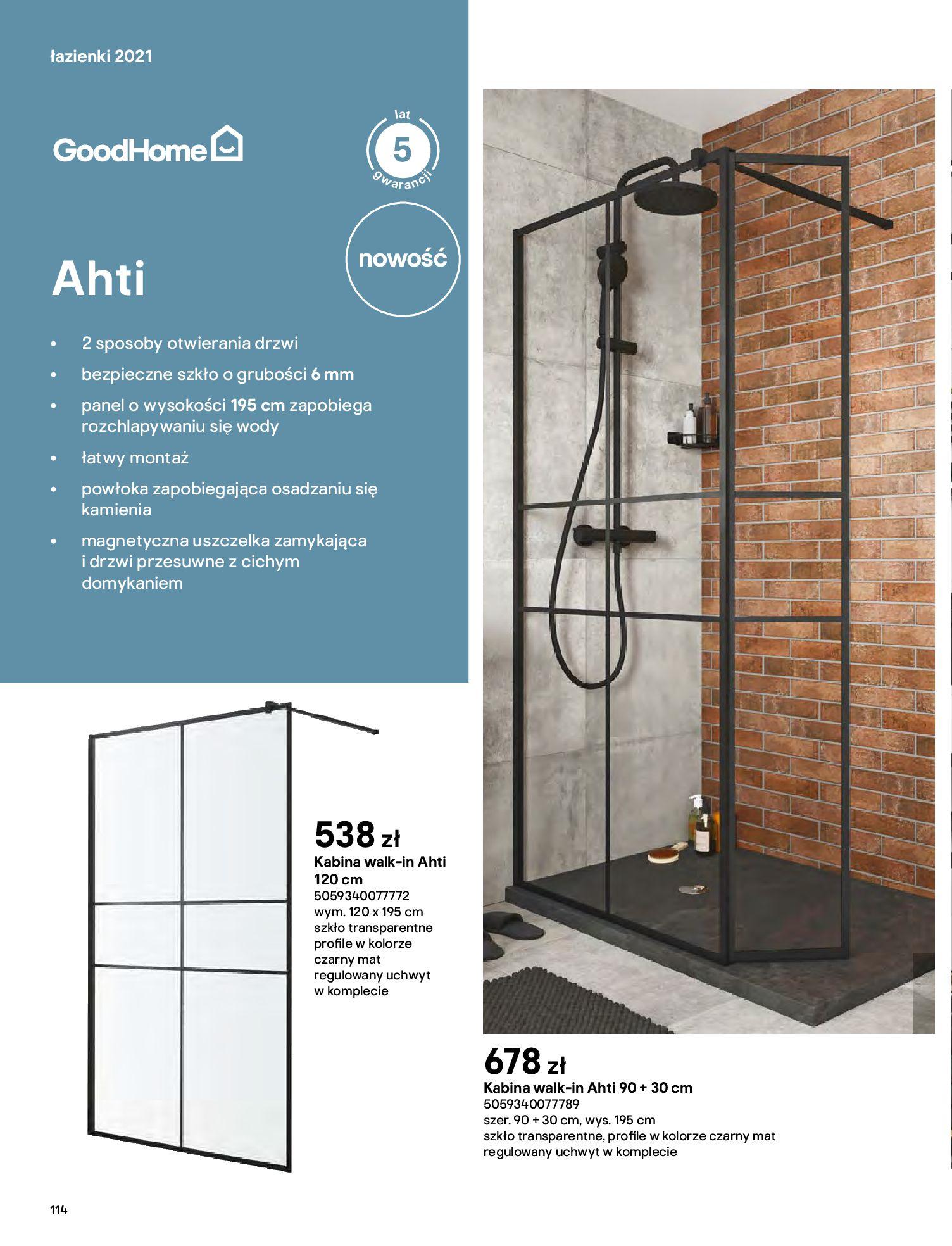 Gazetka Castorama: Gazetka Castorama - katalog łazienki 2021 2021-06-16 page-114