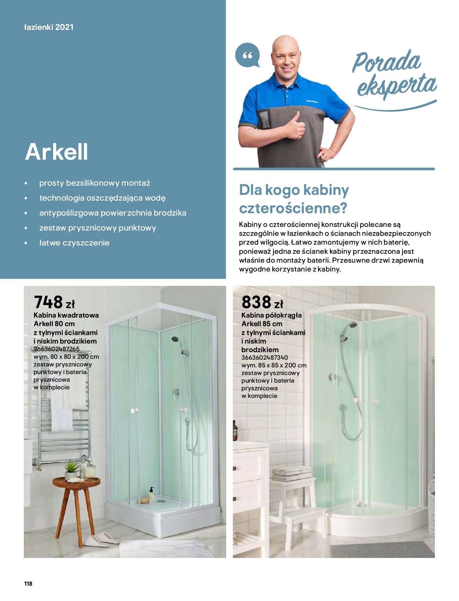 Gazetka Castorama: Gazetka Castorama - katalog łazienki 2021 2021-06-16 page-118