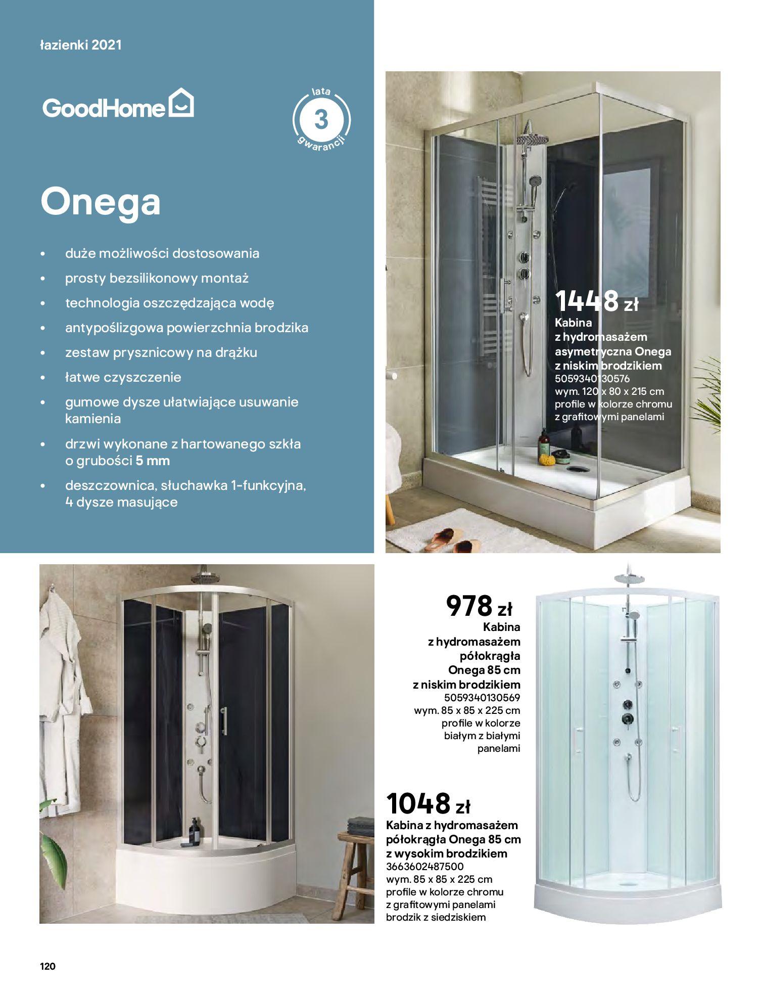 Gazetka Castorama: Gazetka Castorama - katalog łazienki 2021 2021-06-16 page-120
