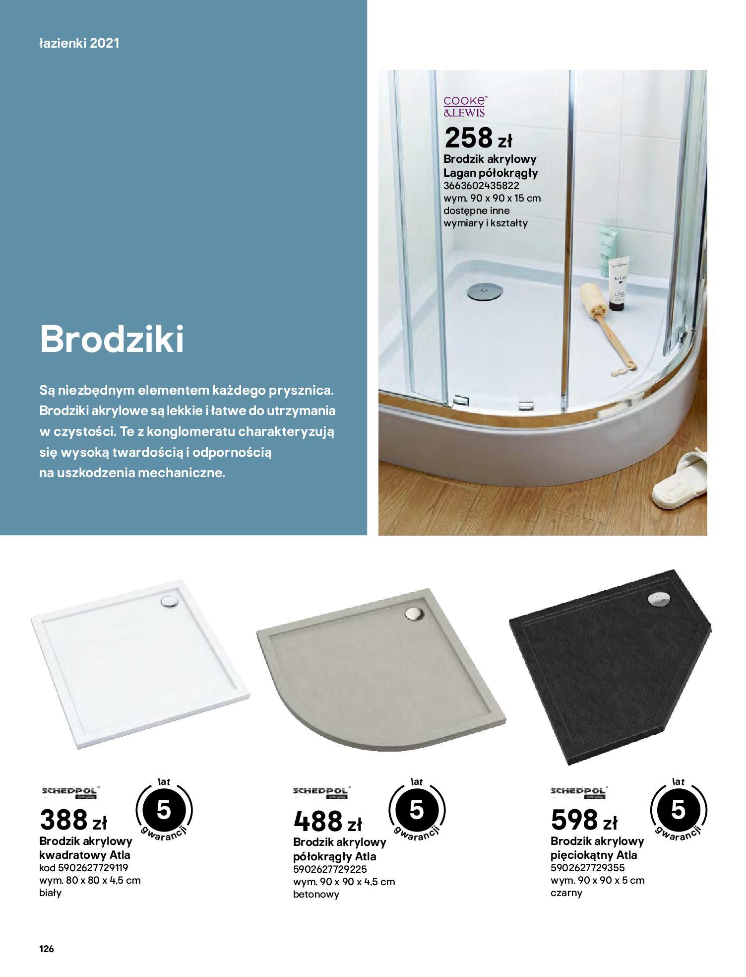 Gazetka Castorama: Gazetka Castorama - katalog łazienki 2021 2021-06-16 page-126