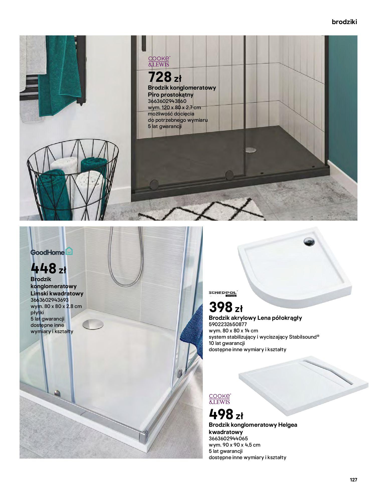 Gazetka Castorama: Gazetka Castorama - katalog łazienki 2021 2021-06-16 page-127