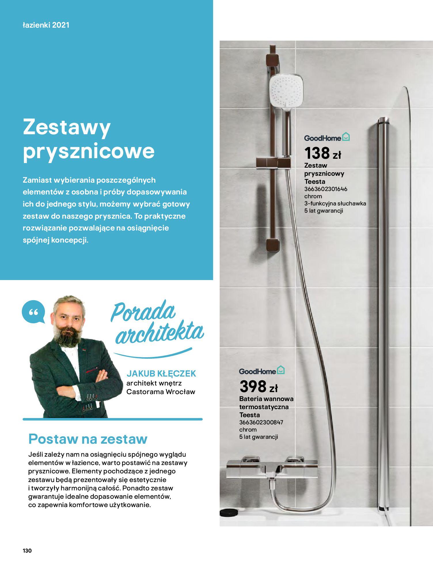 Gazetka Castorama: Gazetka Castorama - katalog łazienki 2021 2021-06-16 page-130