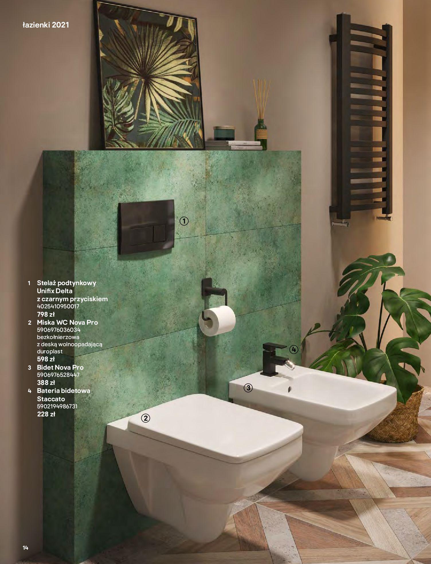 Gazetka Castorama: Gazetka Castorama - katalog łazienki 2021 2021-06-16 page-14