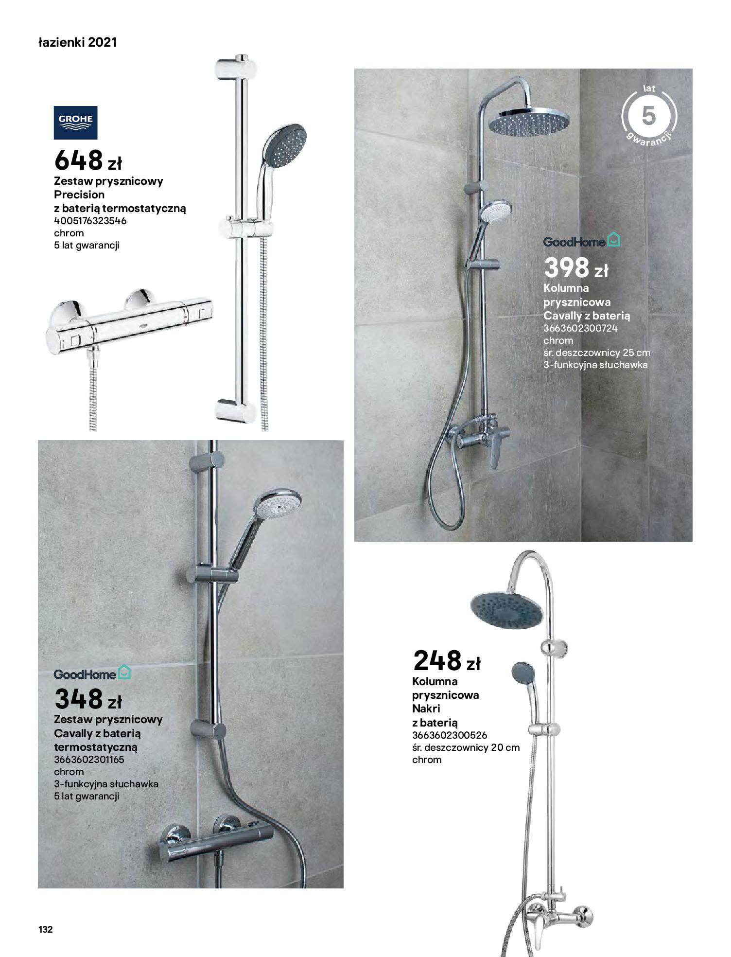 Gazetka Castorama: Gazetka Castorama - katalog łazienki 2021 2021-06-16 page-132