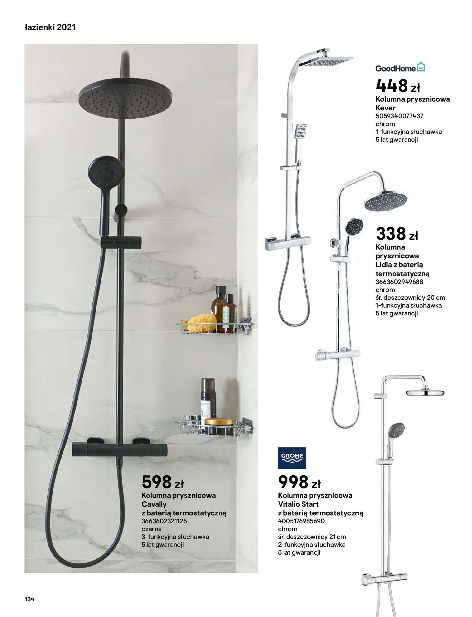 Gazetka Castorama: Gazetka Castorama - katalog łazienki 2021 2021-06-16 page-134