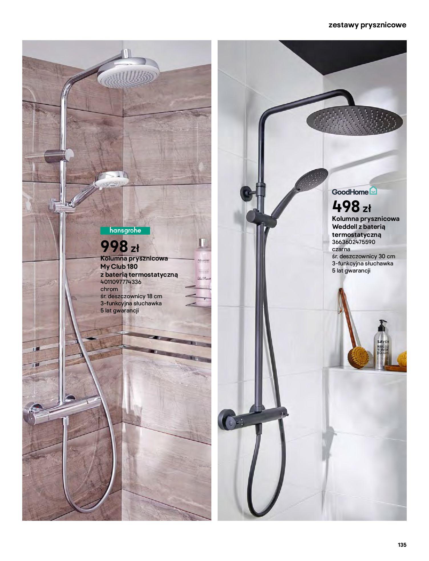Gazetka Castorama: Gazetka Castorama - katalog łazienki 2021 2021-06-16 page-135